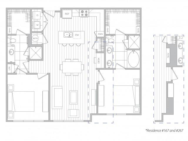 Floor Plan 17 | Apartments For Rent In Sandy Springs | Hanover Perimeter