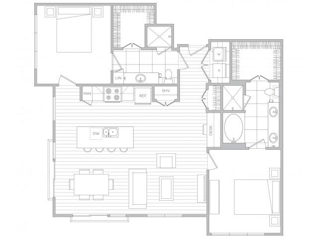 Floor Plan 18 | Luxury Apartments In Sandy Springs Ga | Hanover Perimeter
