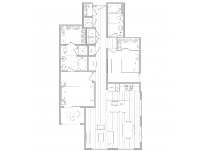 Floor Plan 19 | Sandy Springs Luxury Apartments | Hanover Perimeter