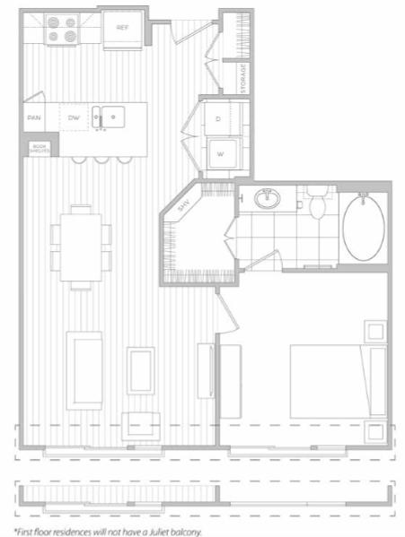 Floor Plan 5   3 Bedroom Apartments Dallas   Hanover Midtown Park