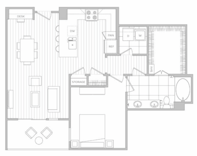 Floor Plan 8 | Dallas Luxury Apartments | Hanover Midtown Park