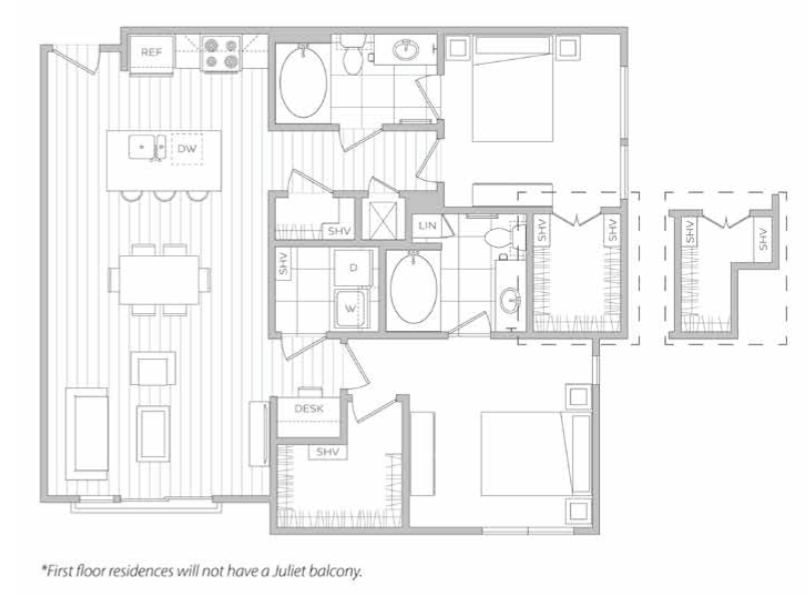 Floor Plan 10 | Apt For Rent In Dallas Tx | Hanover Midtown Park