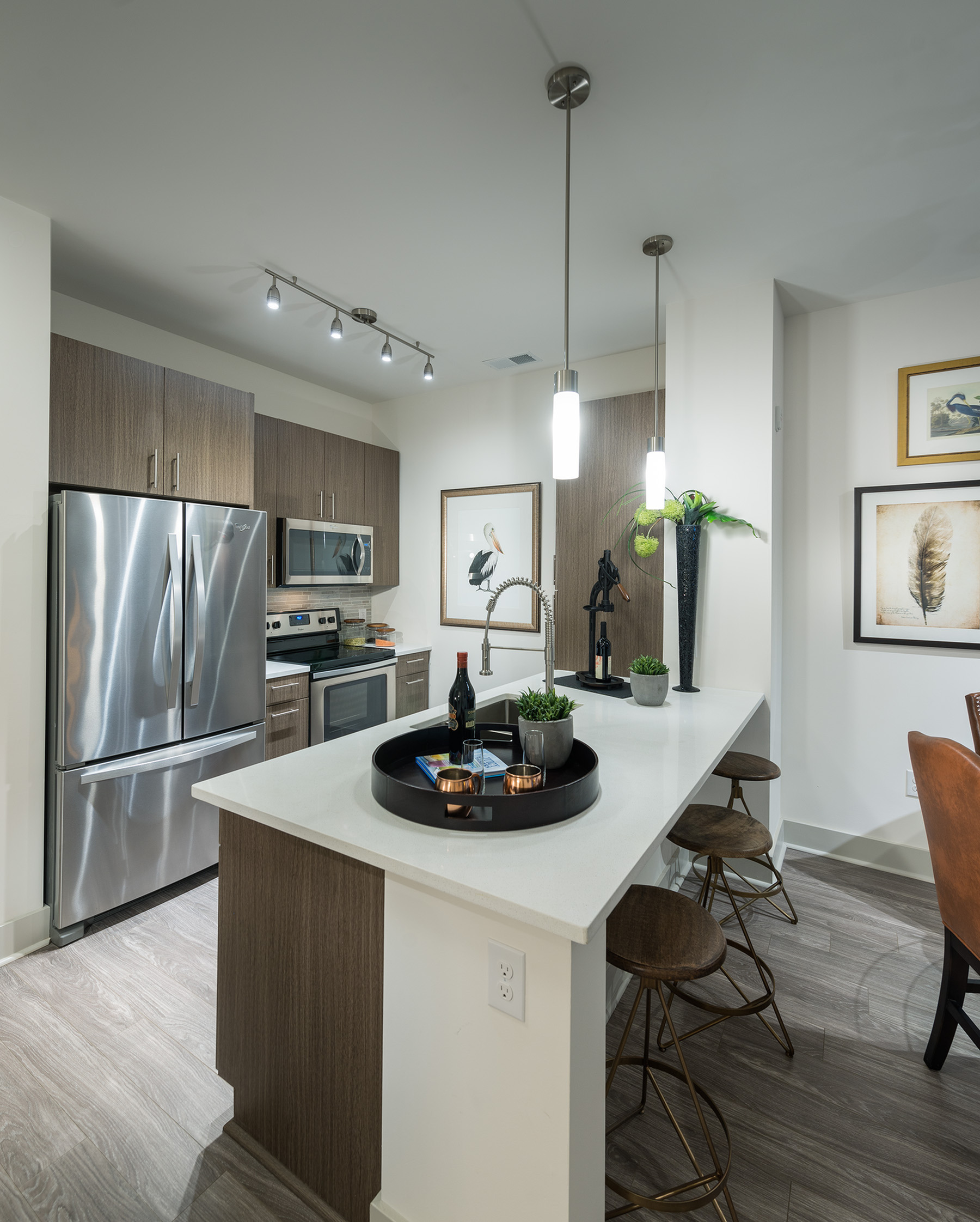 Image of Gourmet chef kitchen with stainless steel appliances for Hanover North Broad