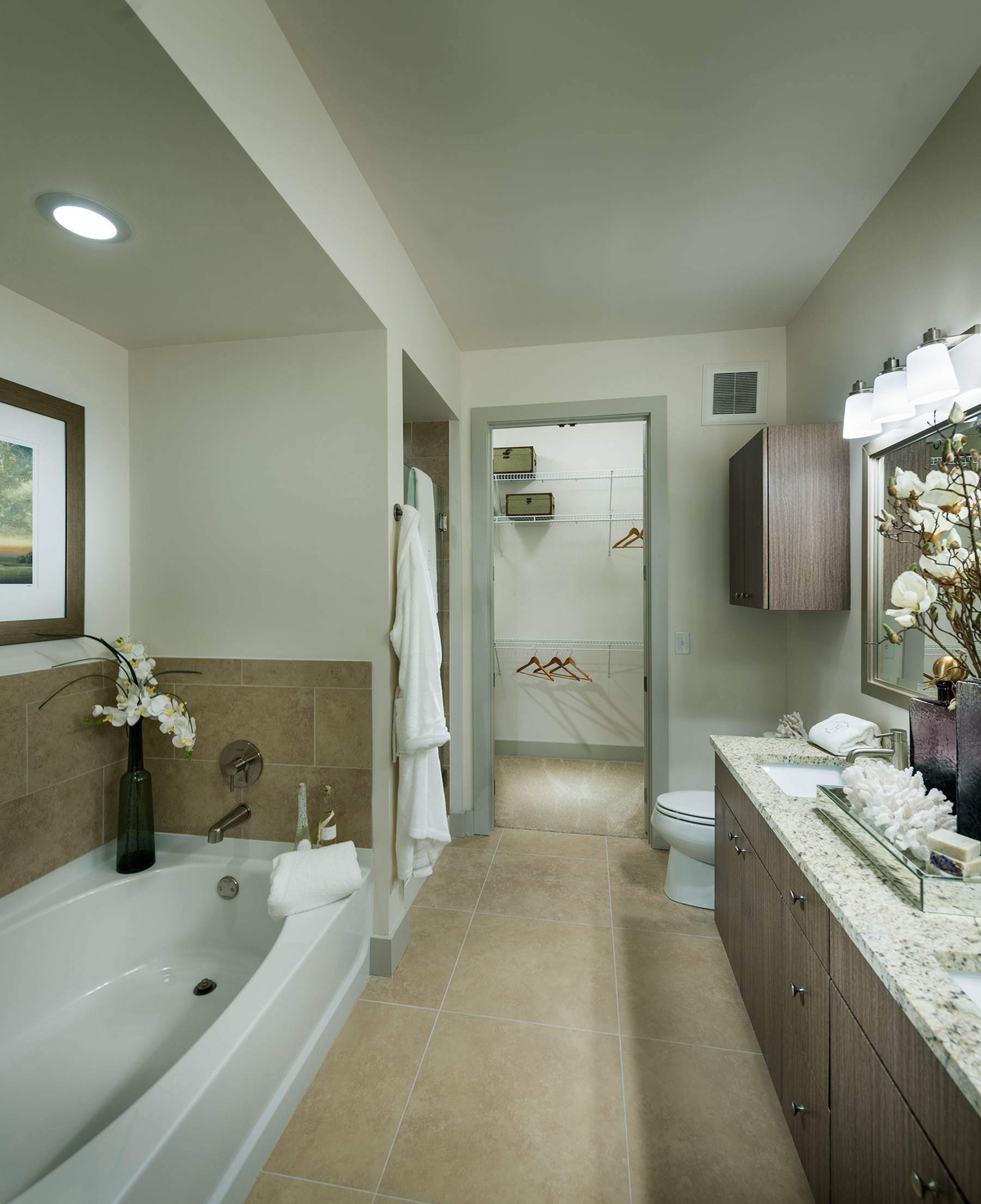Image of Spa-inspired bathrooms with large soaking tub for Hanover North Broad