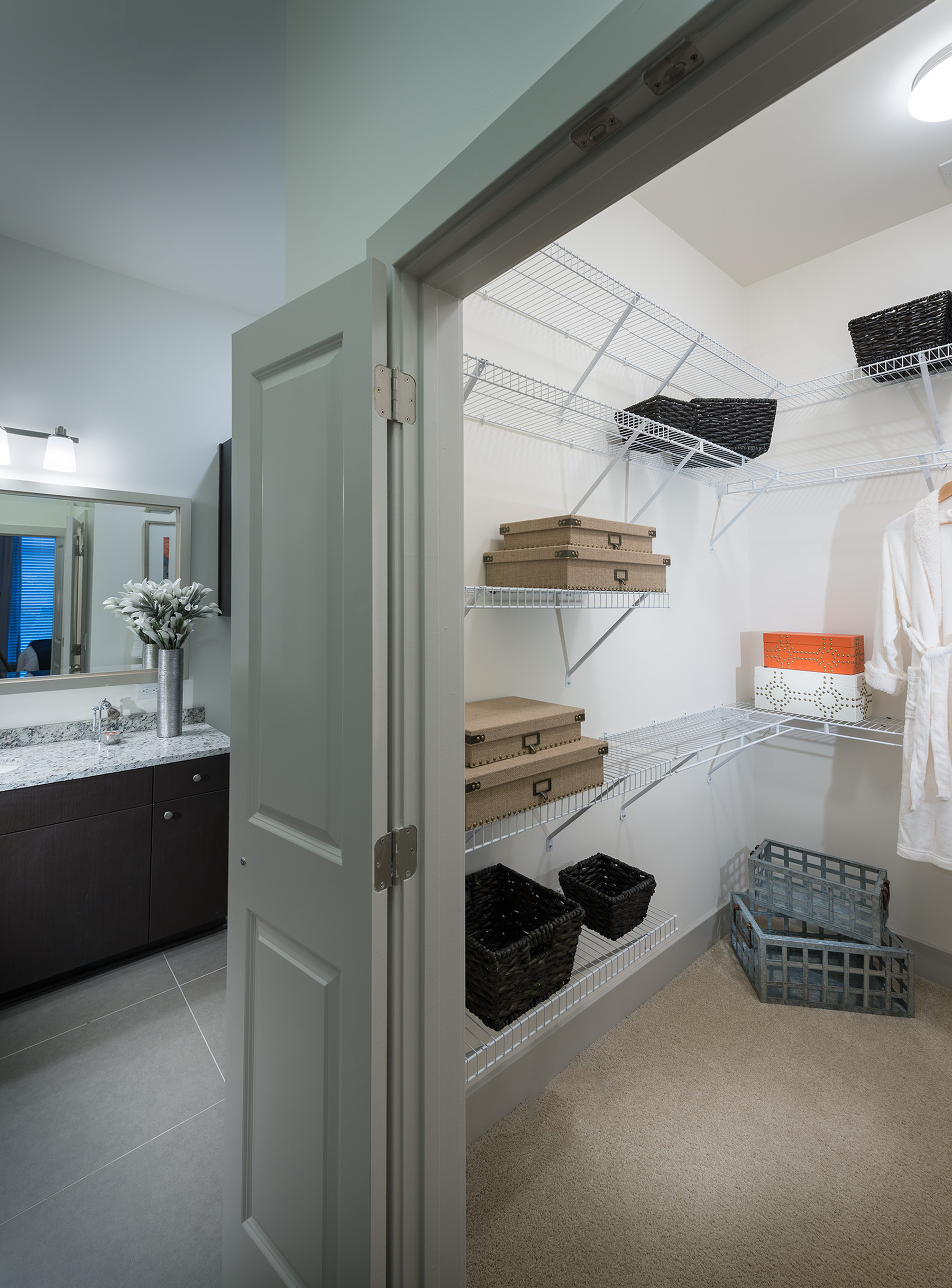 Image of Custom space-saving double-hung walk-in closets for Hanover Cross Street