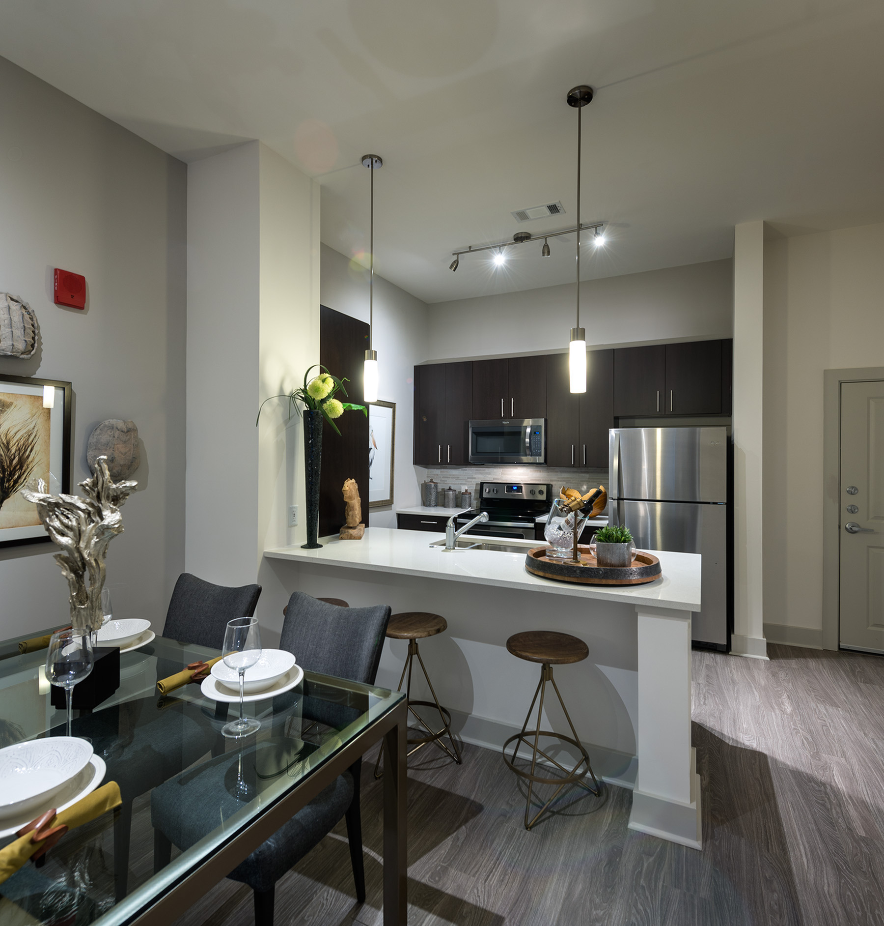 Image of Gourmet kitchens equipped with stainless steel appliances for Hanover Foxborough
