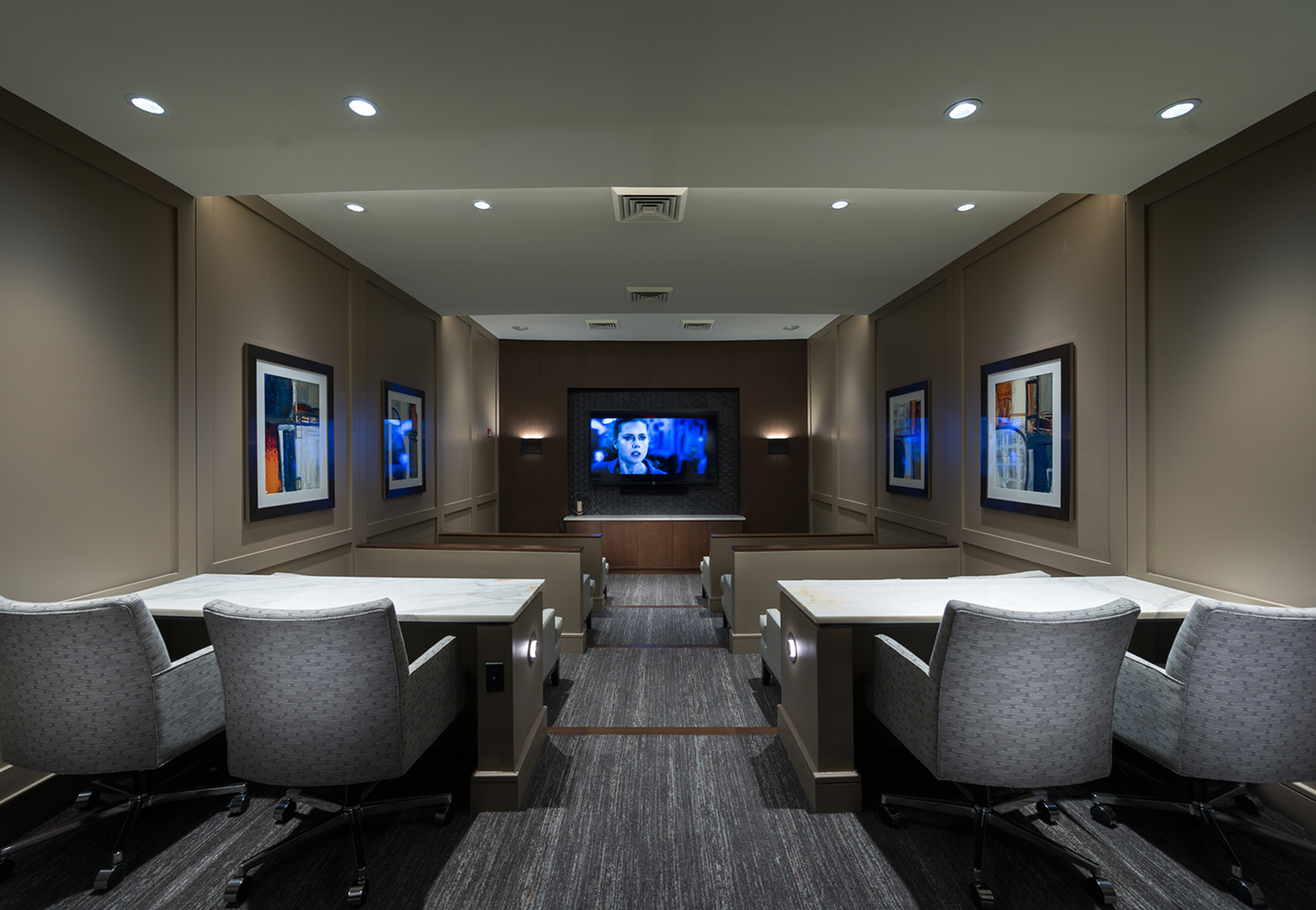 Image of Private screening room with surround-sound for Hanover Foxborough
