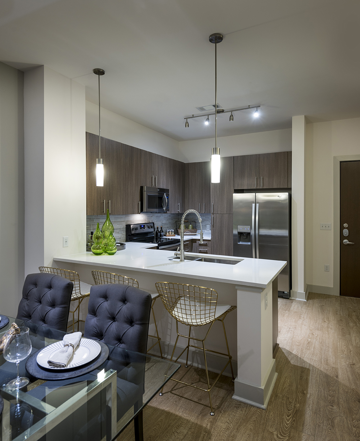 Image of Gourmet chef kitchen with stainless steel appliances for Hanover Alewife