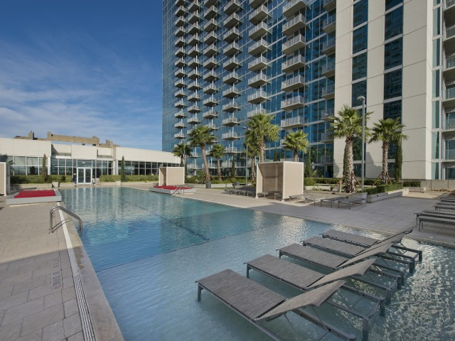 Image of Stunning infinity pool with private cabanas for Hanover Hermann Park