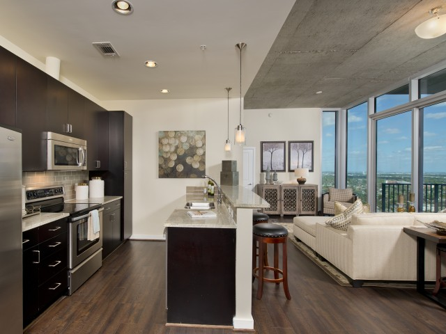 Image of Luxury vinyl tile flooring and ceramic tile for Hanover Hermann Park