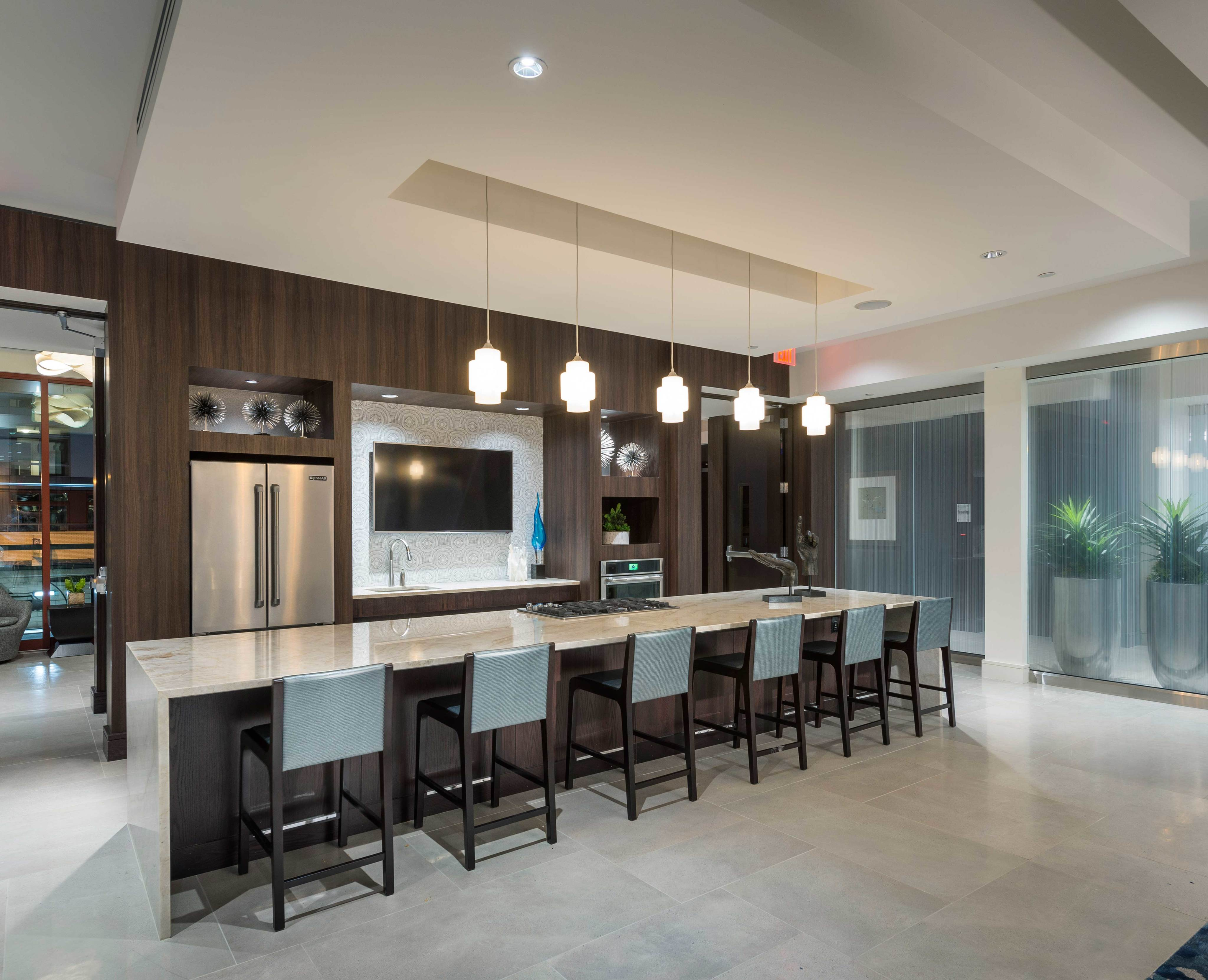 Resident Pantry and breakfast bar area at Hanover North Broad