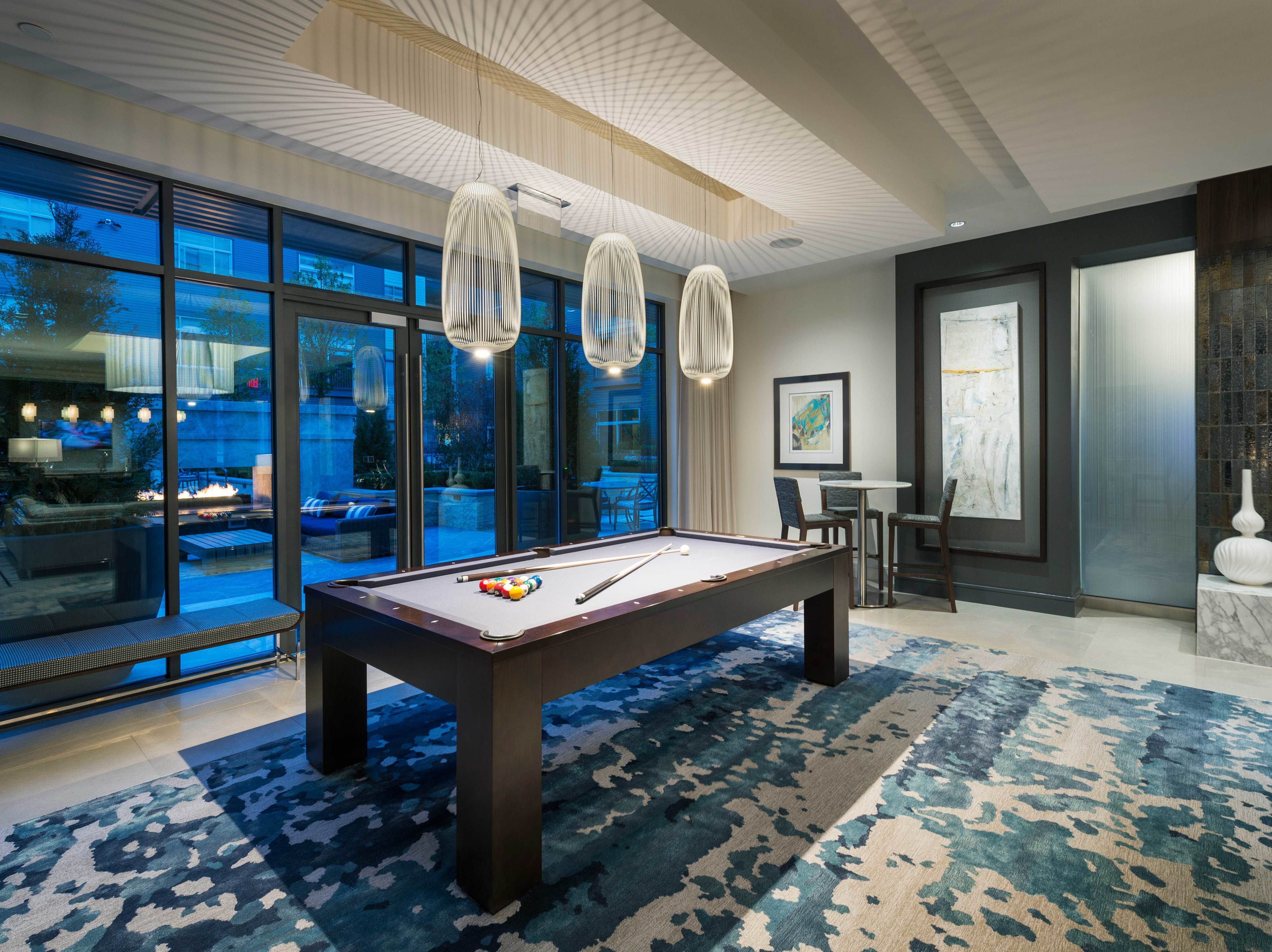 Resident Lounge with Billiards Table at Hanover North Broad