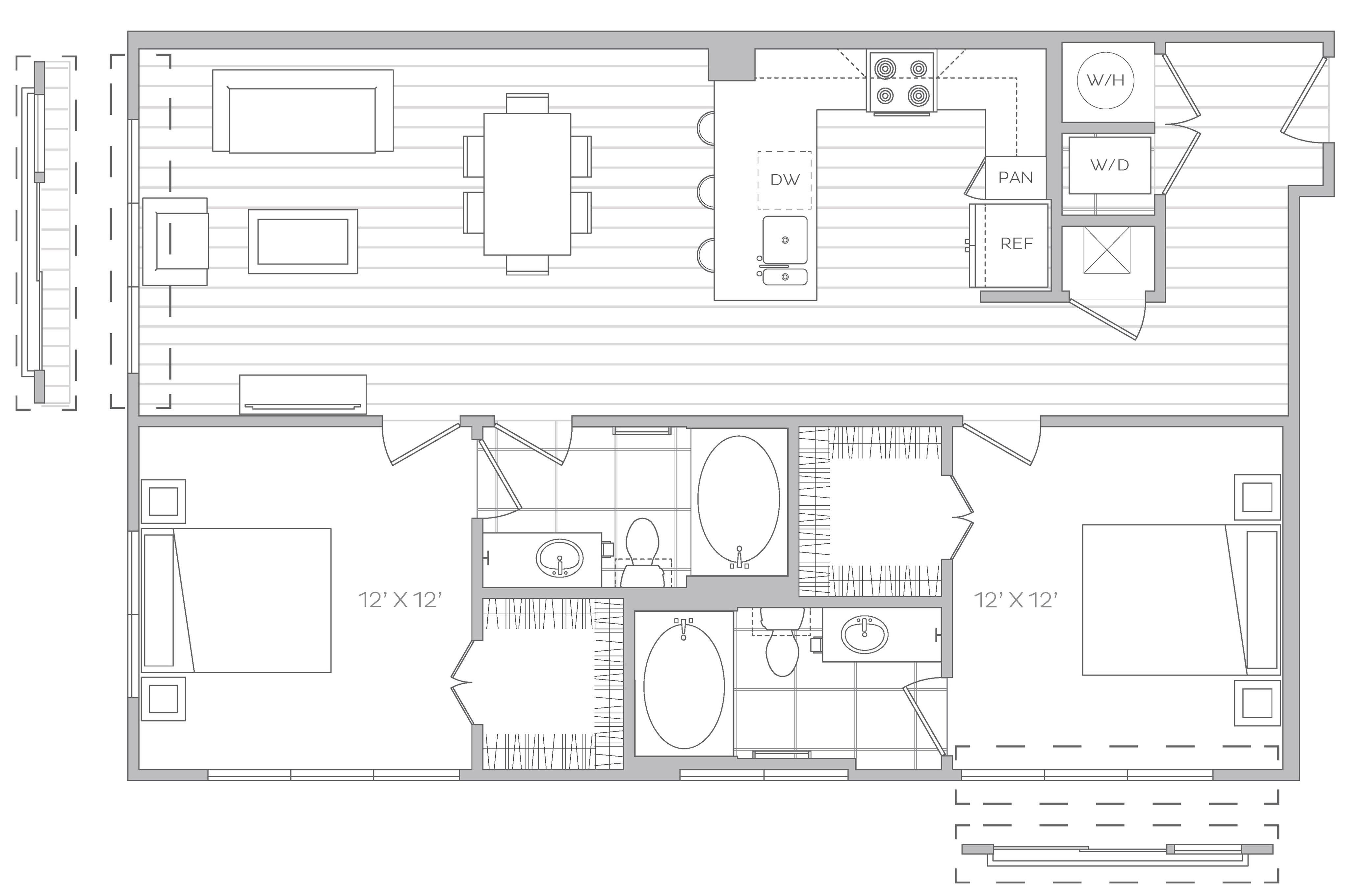 2 Bed / 2 Bath Apartment in DENVER CO | Hanover Platt Park