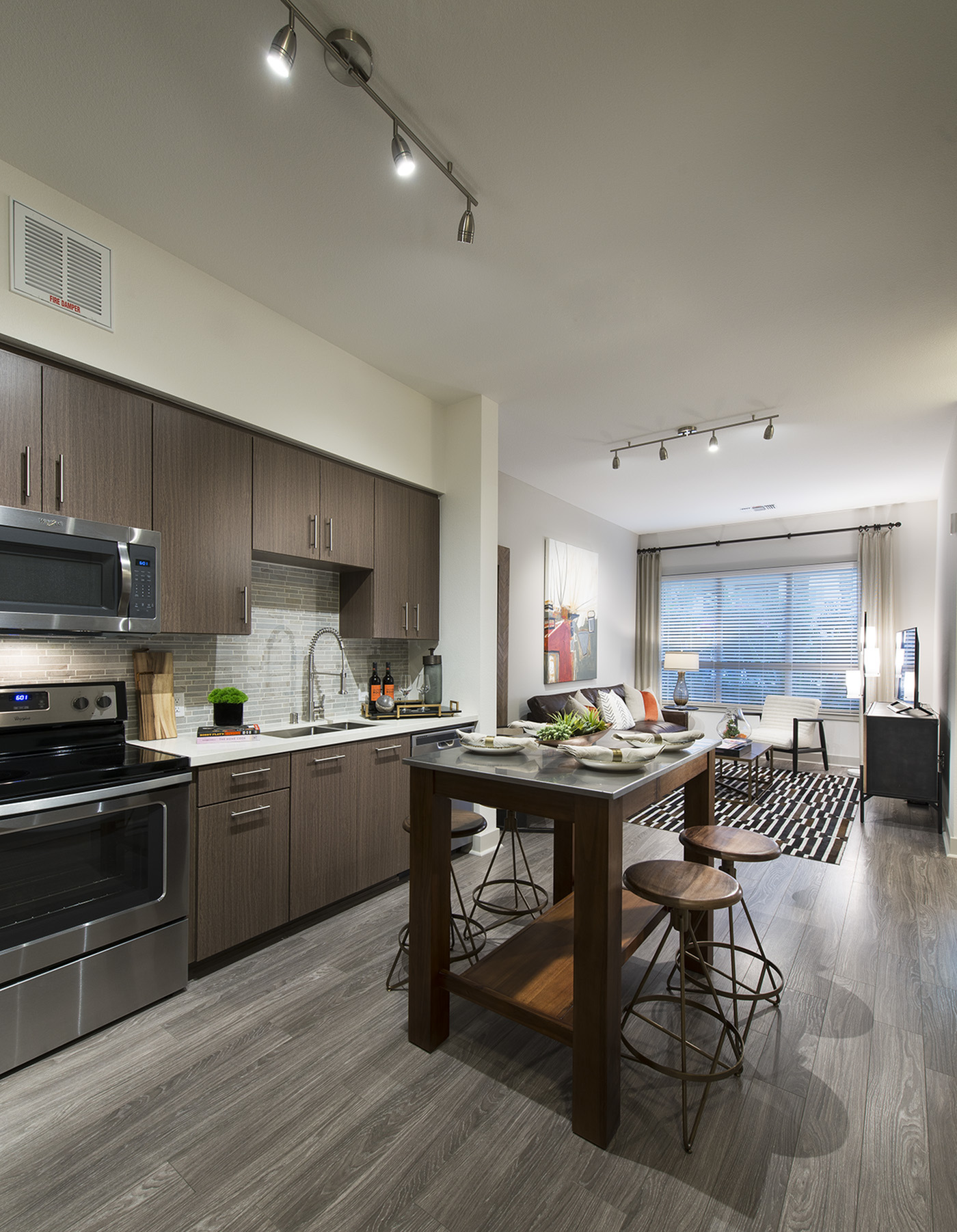 Image of Gourmet chef kitchens with stainless steel appliances for Hanover Mission Gorge