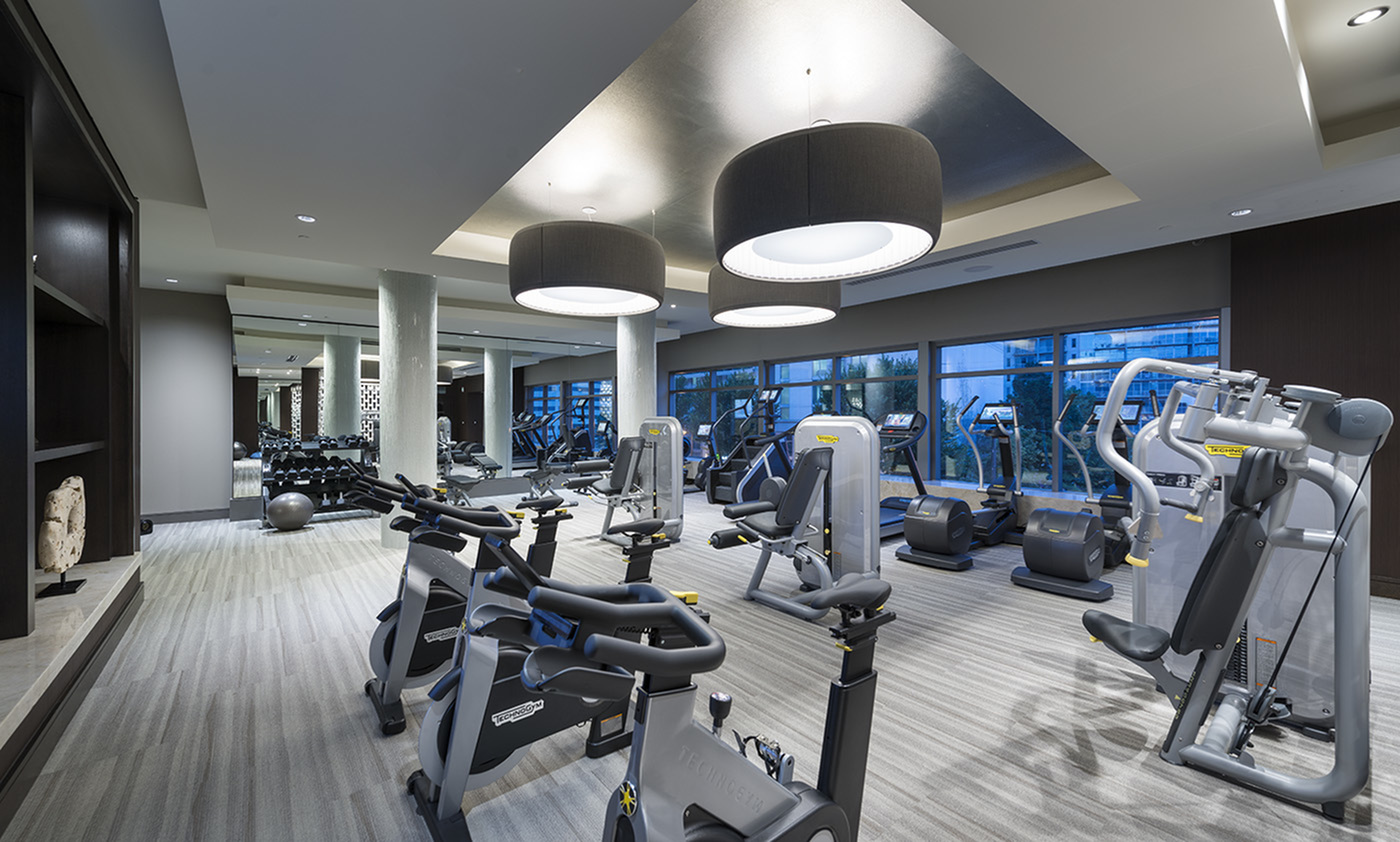 Image of On-site 24-hour fitness center with tablet-integrated cardio machines for Hanover West Peachtree