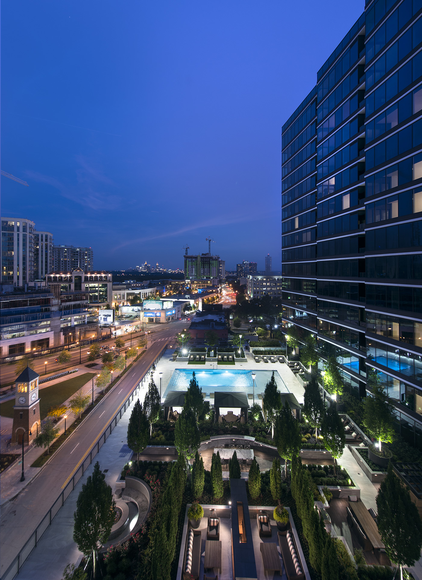 Inspiring views of Midtown and Buckhead at Hanover Buckhead Village