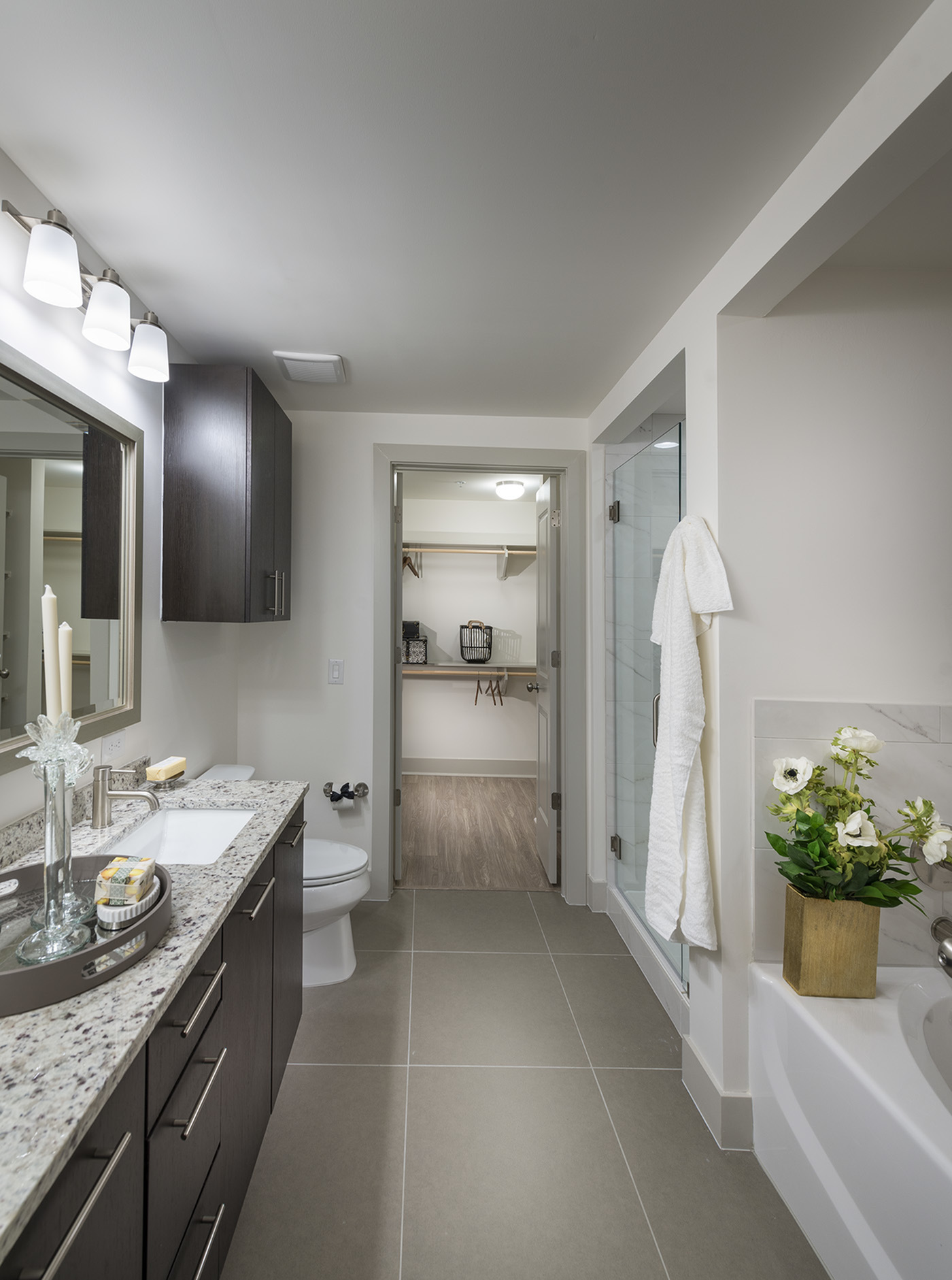 Image of Spa-inspired bathrooms with frameless glass showers* for Hanover Buckhead Village