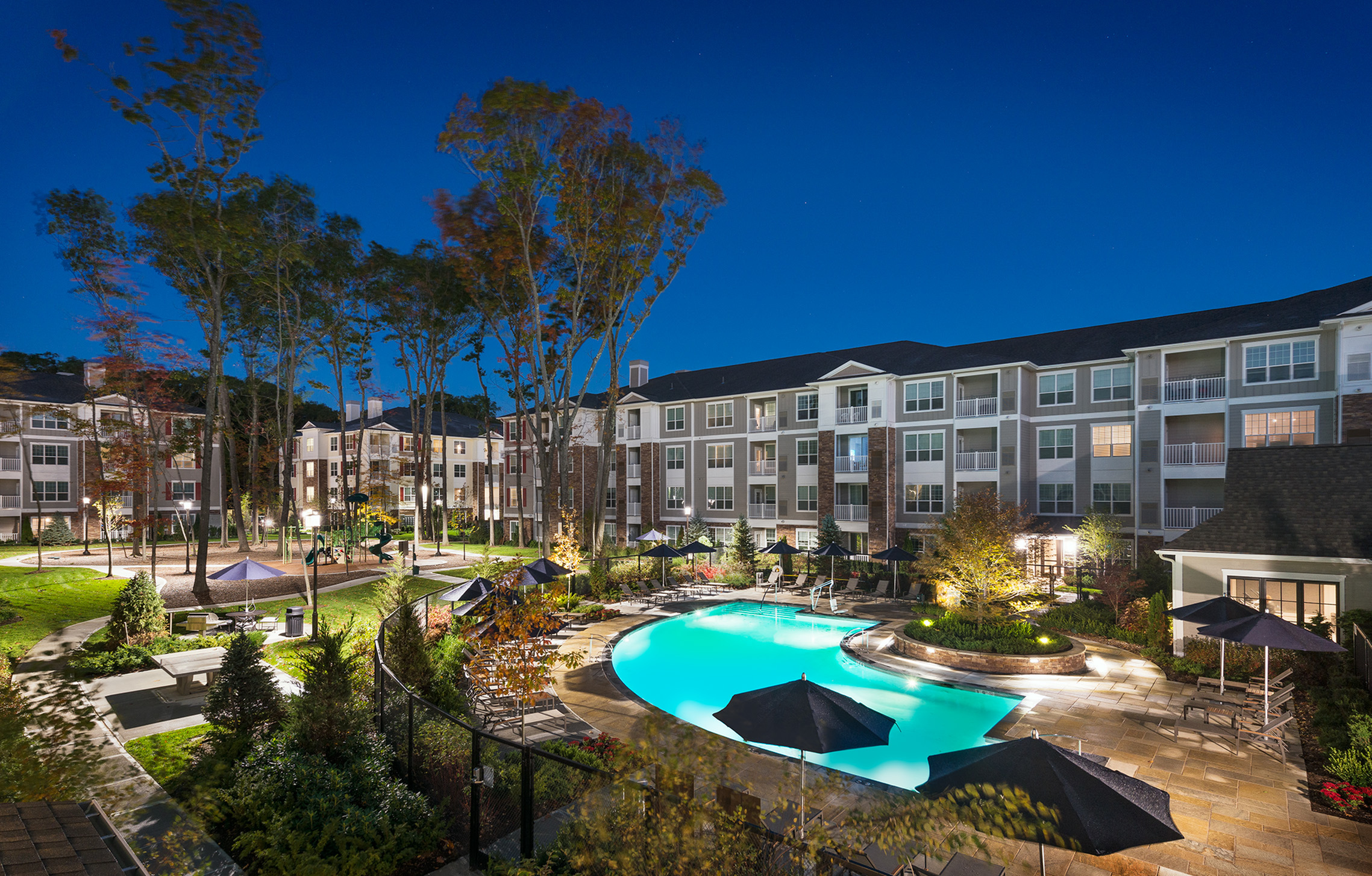 Image of Lavish courtyard with resort-style pool and conversational fire-pit for Hanover at Andover