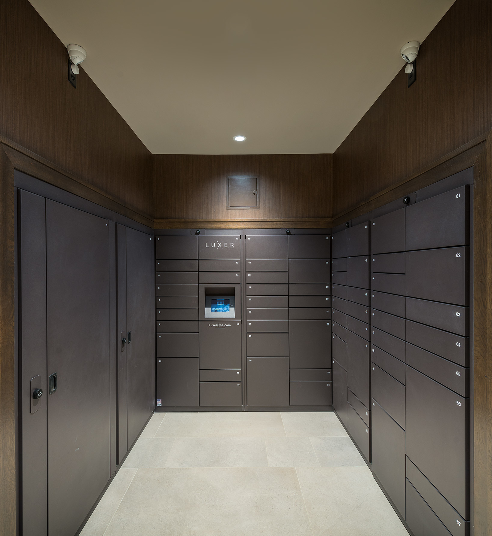 Image of LuxerOne package locker system for Hanover at Andover