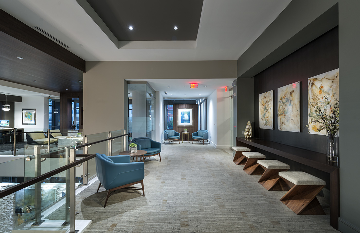 Image of Welcoming reception room with HDTV lounge for Hanover Perimeter