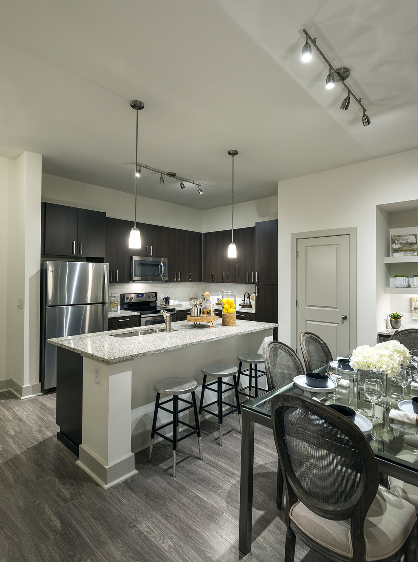 Image of Gourmet chef kitchen with stainless steel appliances for Hanover Perimeter