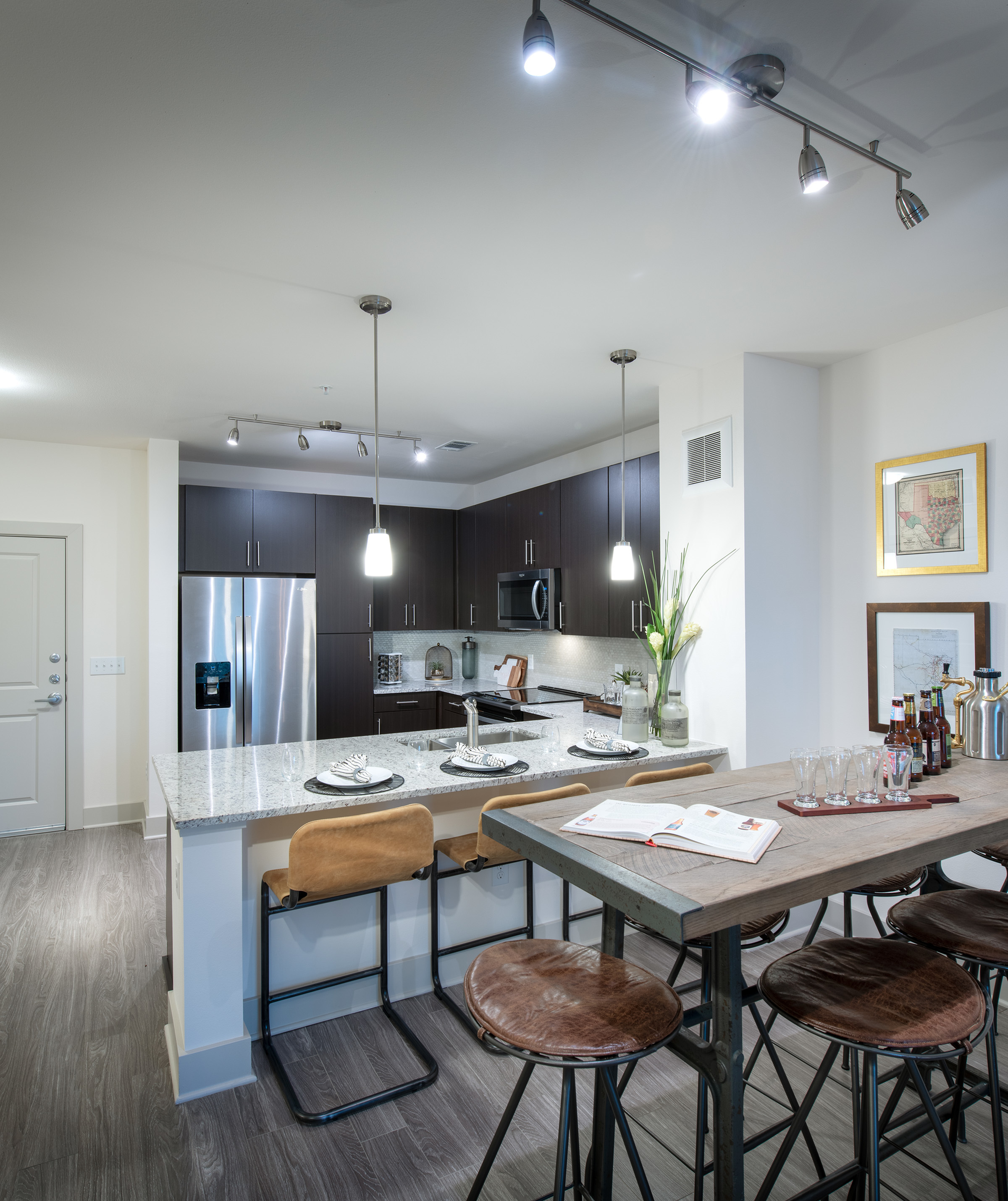Image of Gourmet chef kitchens with stainless steel appliances for Hanover Dr. Phillips