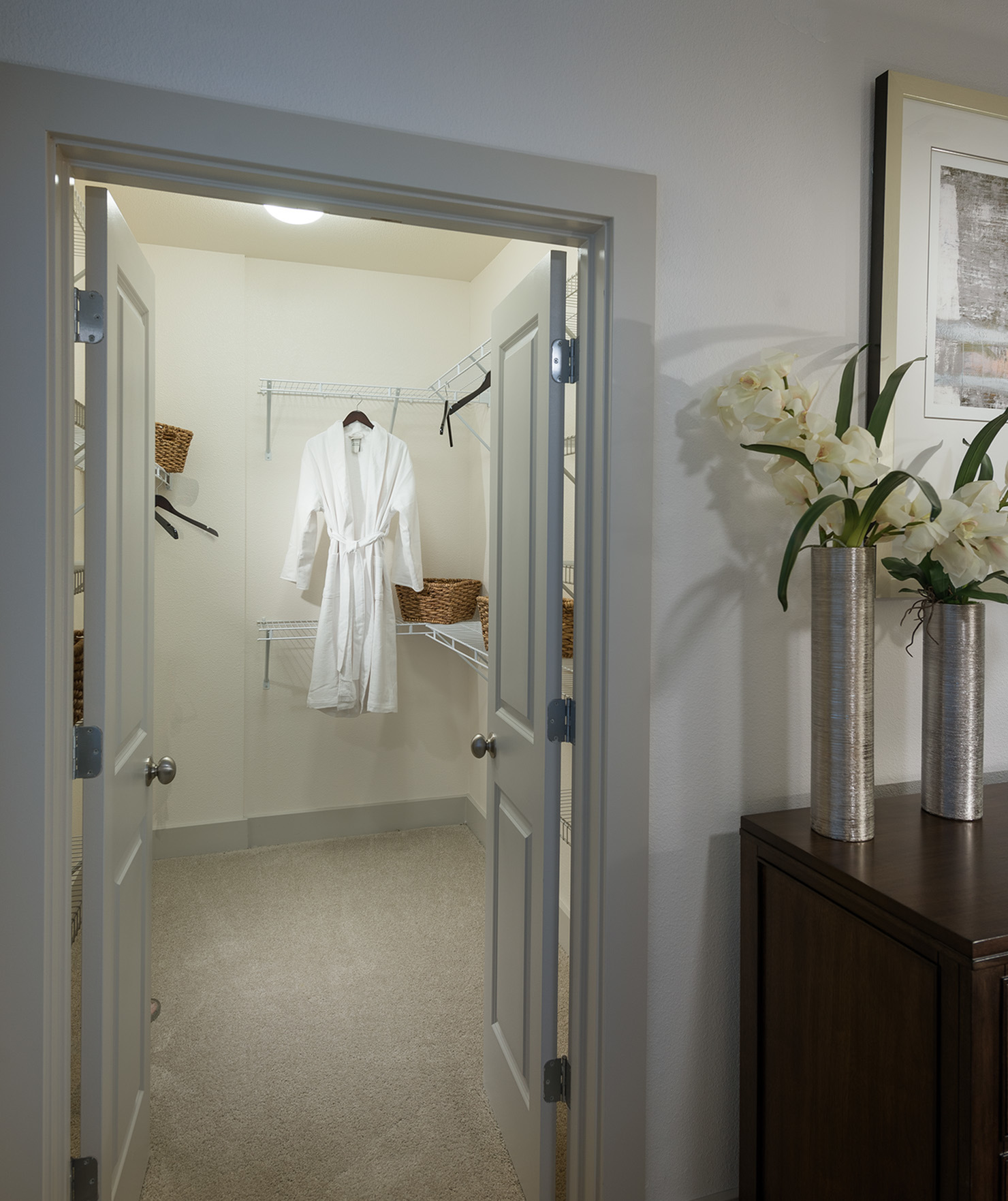 Image of Custom space-saving double-hung walk-in closets for Hanover Midtown Park