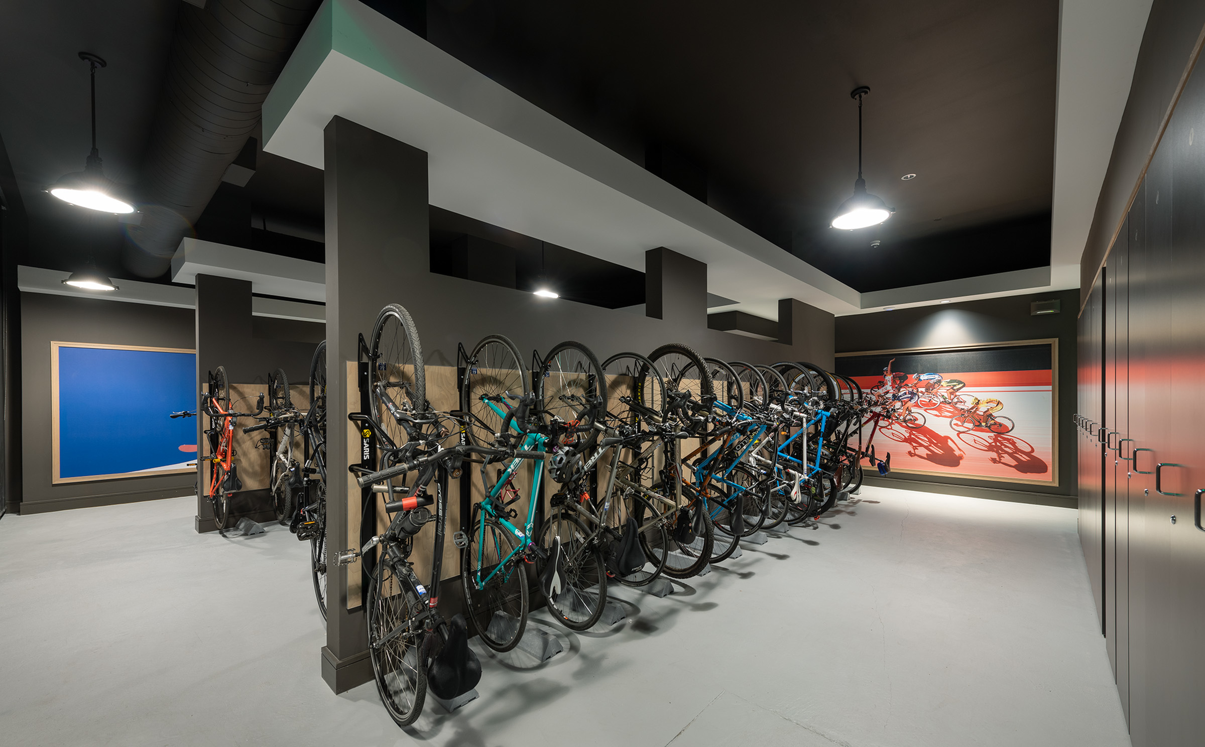 Image of Heated bike storage with gear repair station & Ski locker room for Hanover Platt Park