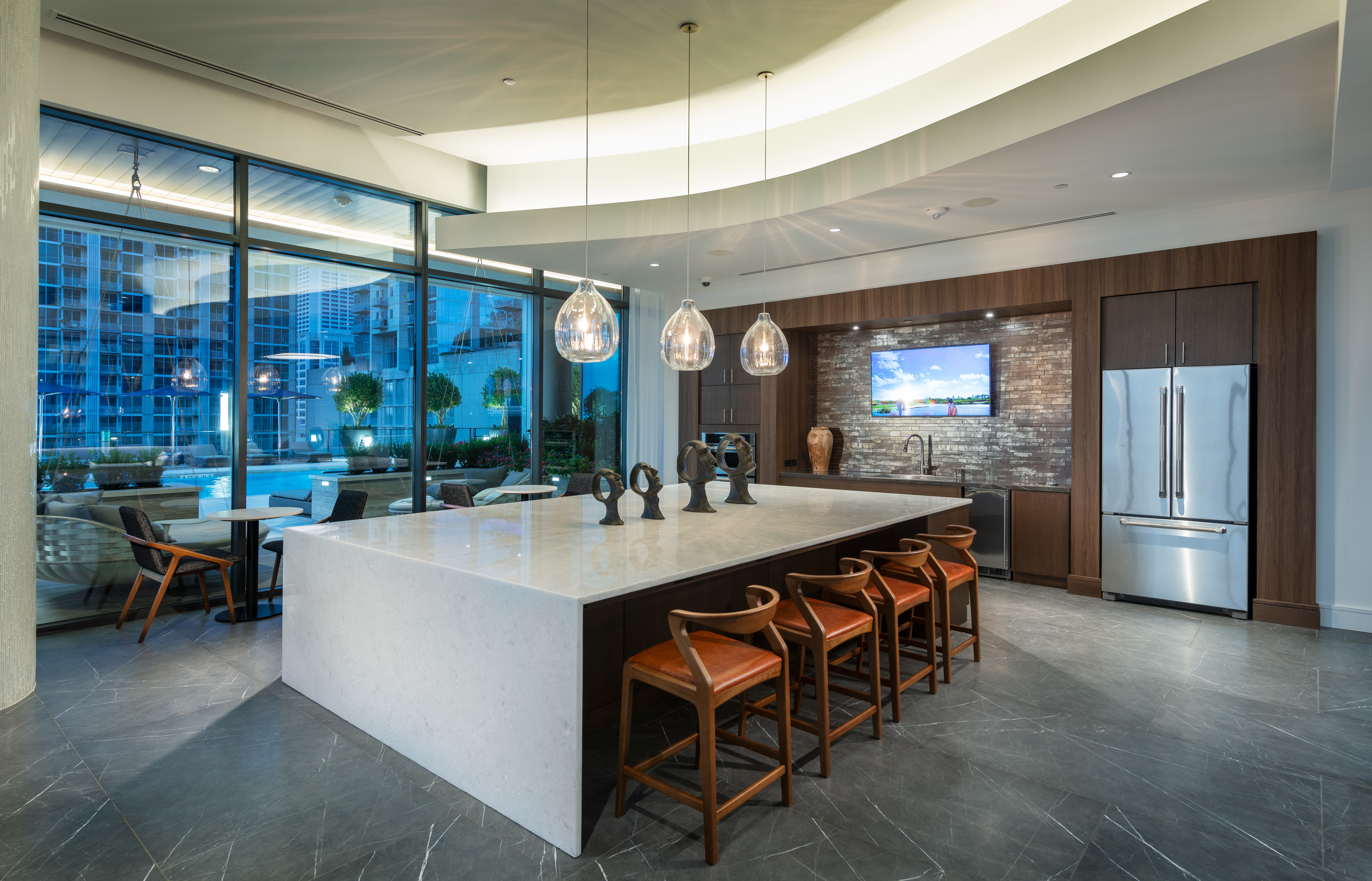 Image of Resident Pantry with Large Island, Full-Service Catering Kitchen and Banquet-Style Seating for Hanover Midtown