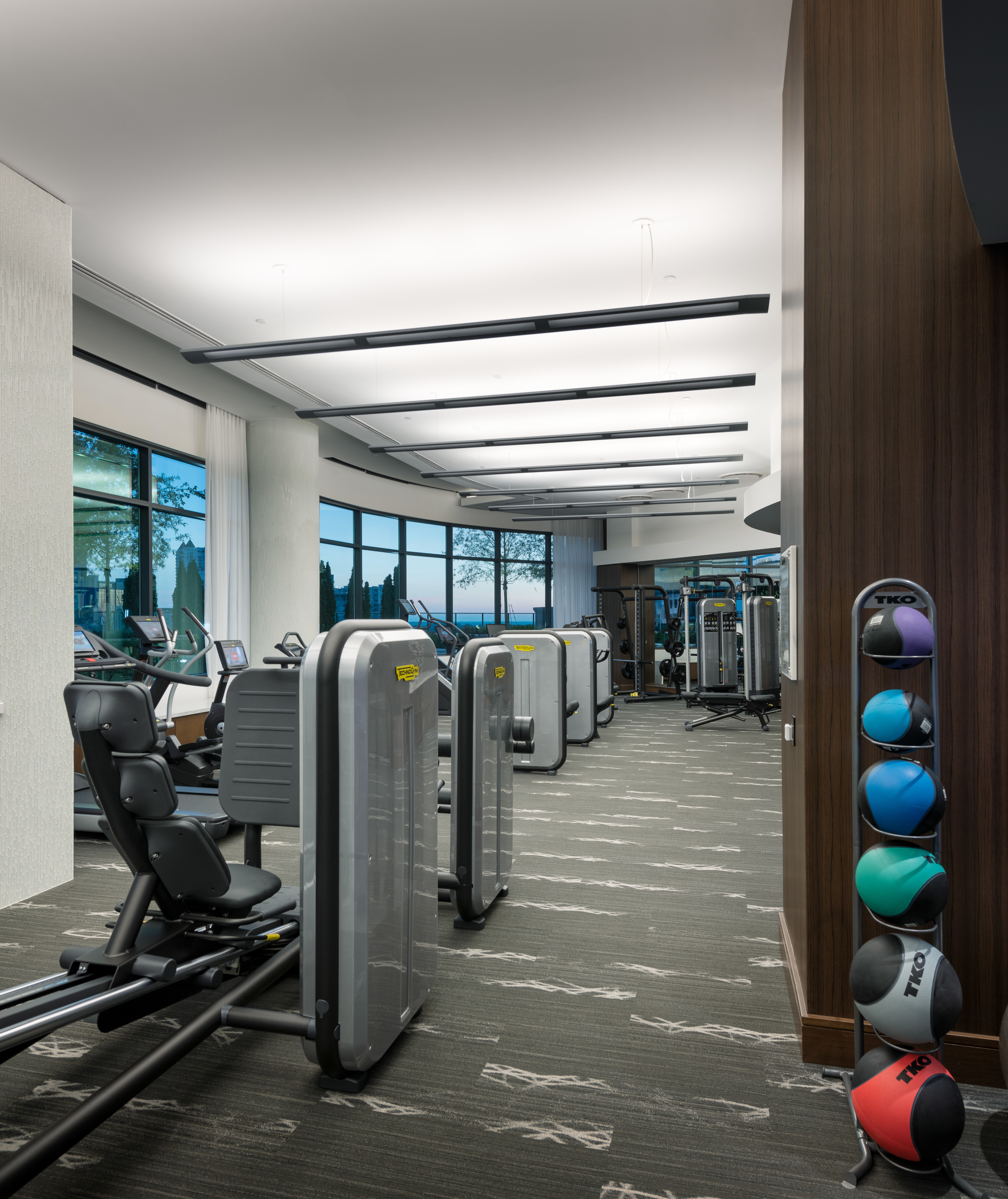 Image of 24-Hour Fitness Center with Technogym, TRX, Cardio and Strength Equipment for Hanover Midtown