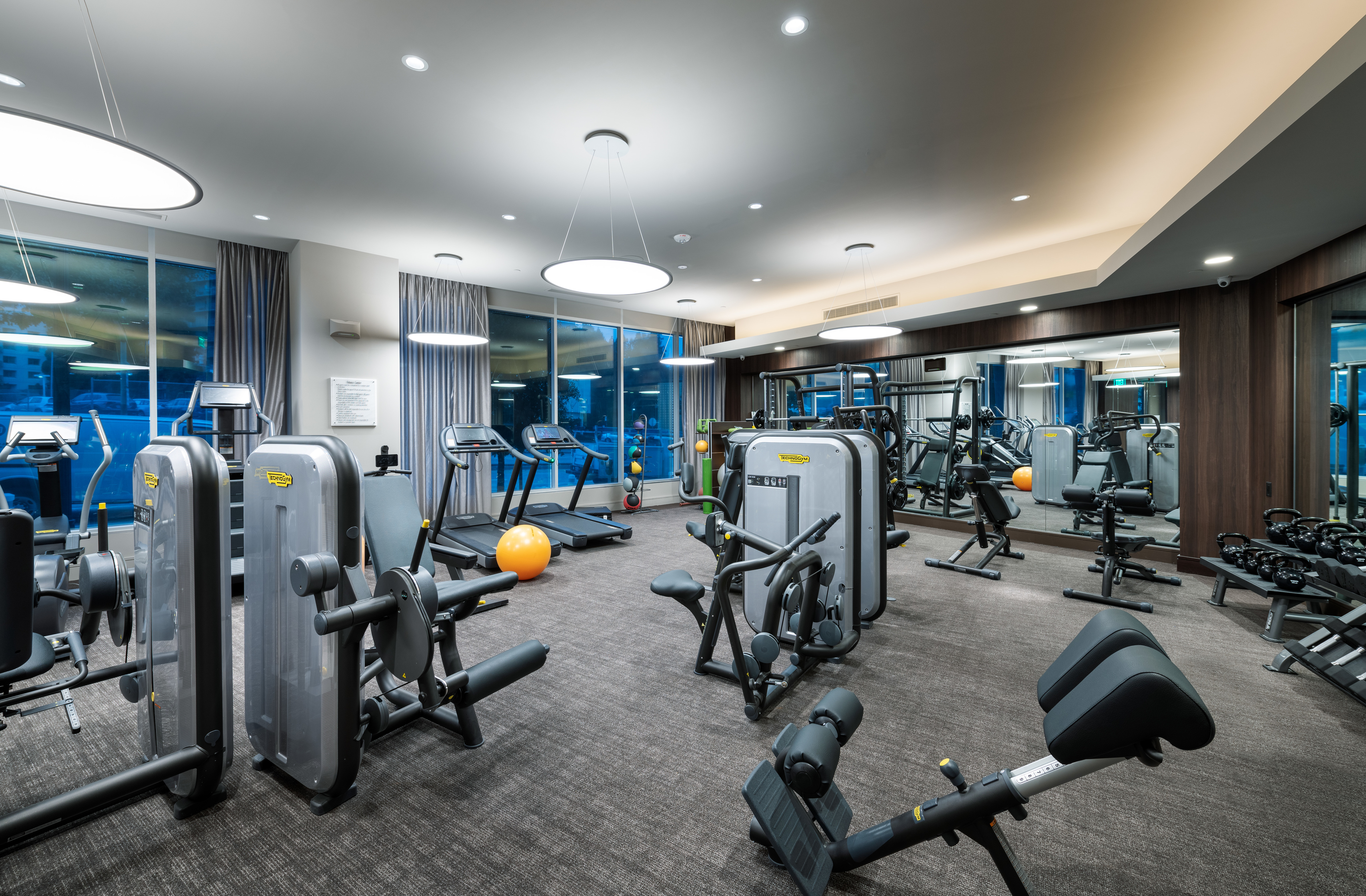 24-hr Fitness Center with TechnoGym Cardio and Strength Equipment at Hanover Broadway