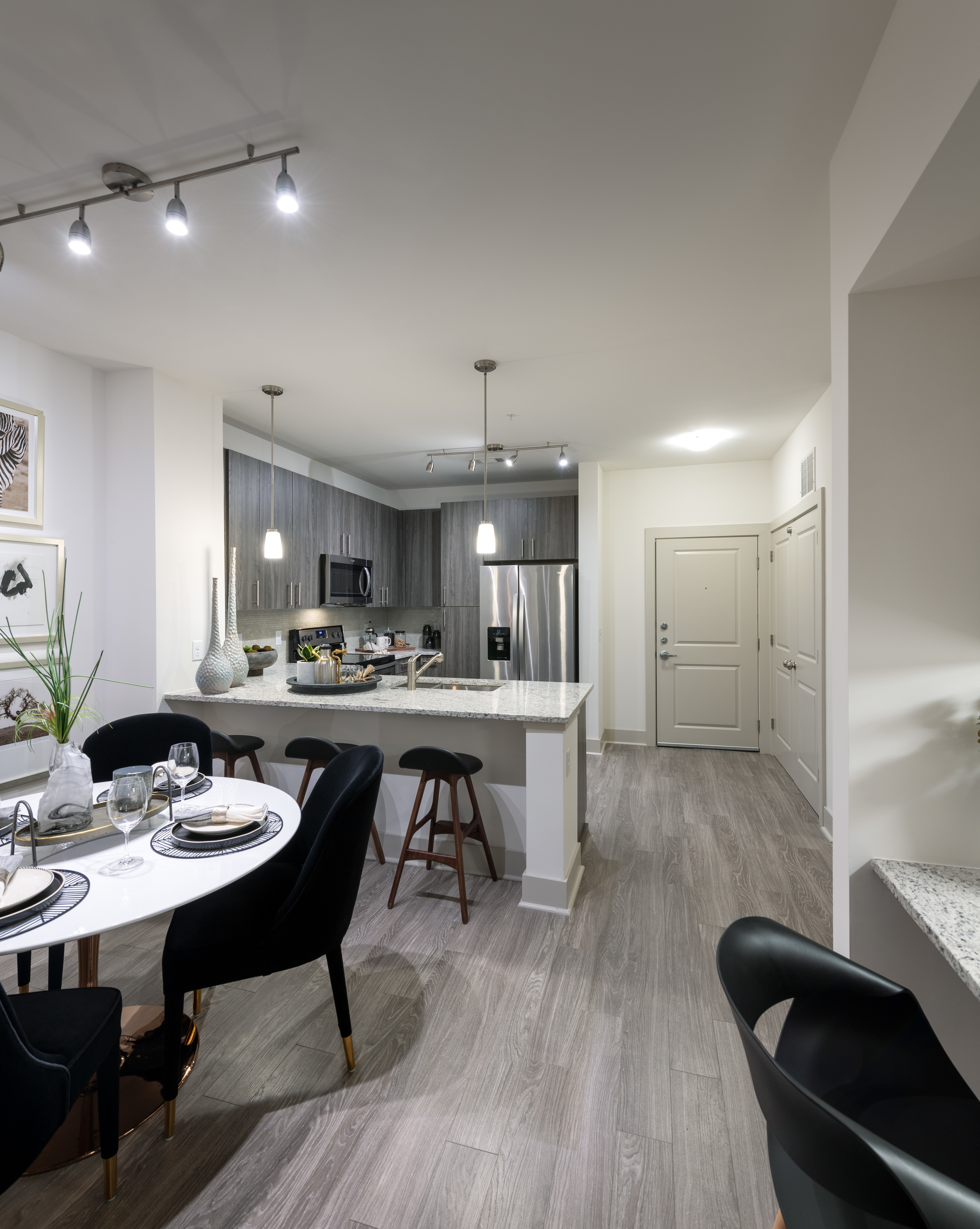 Image of Gourmet chef kitchens with stainless steel appliances for Hanover Westford Valley