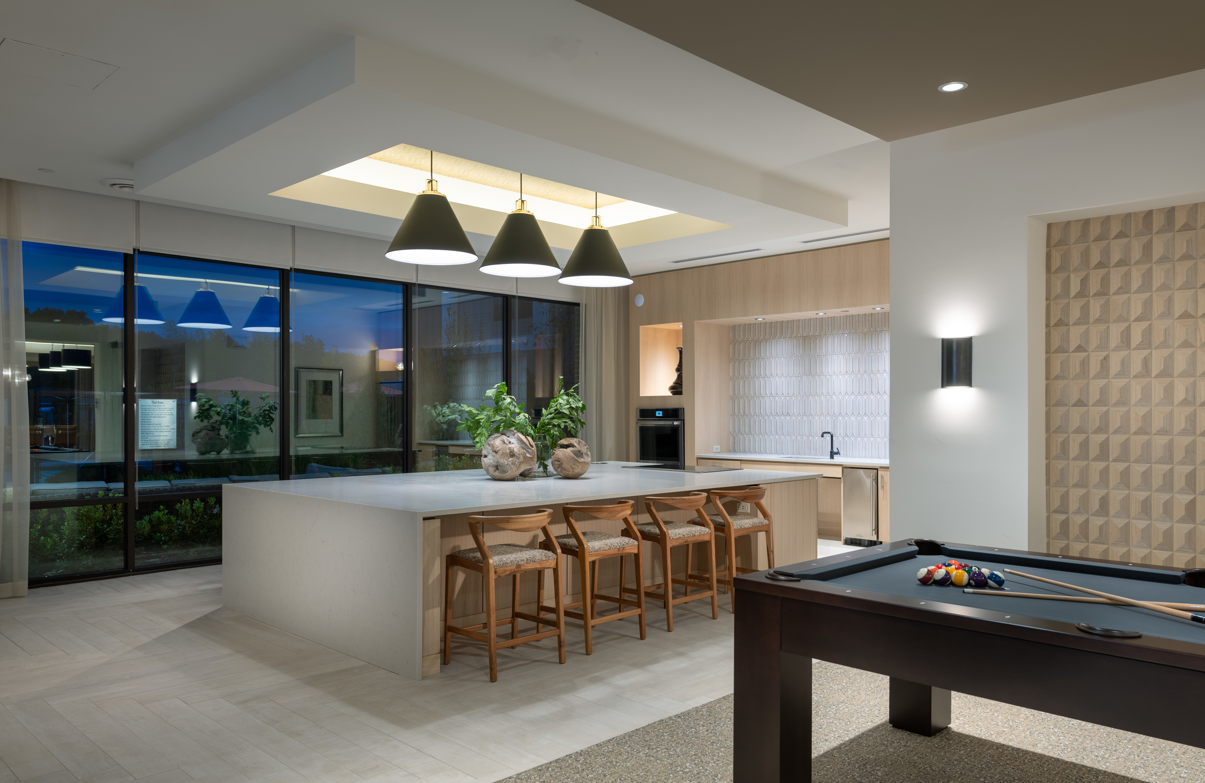 Fully-equipped catering kitchen at Hanover Westford Valley