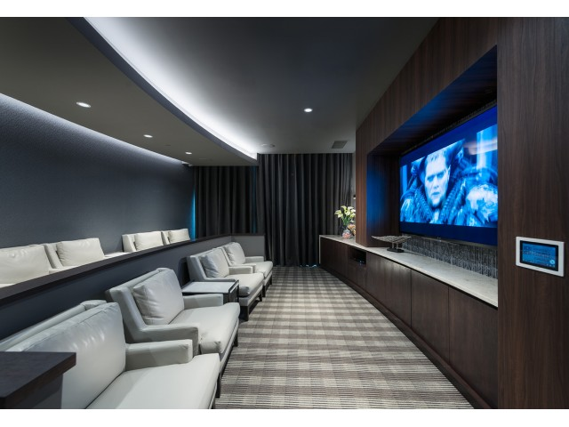 Image of Media rooms with large screen TV's and surround-sound for Hanover Cross Street