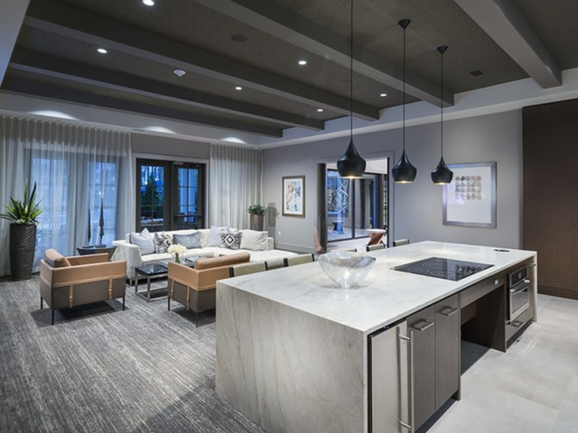 Resident Clubhouse with Smart TV lounge at Hanover Westford Hills