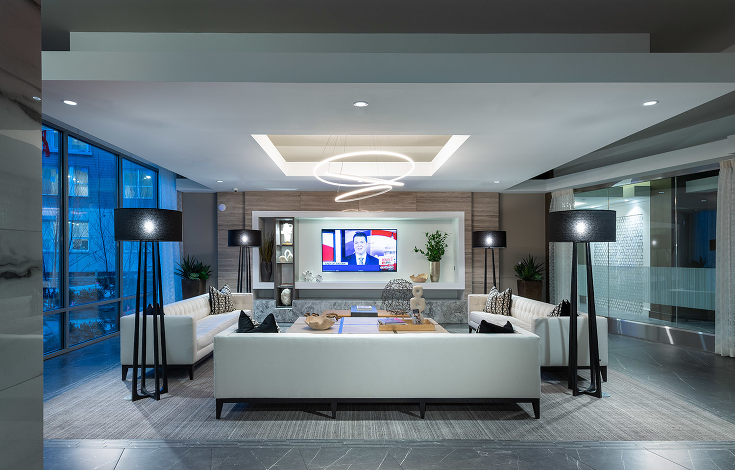 Resident Clubhouse with Smart TV lounge at Hanover Town Center