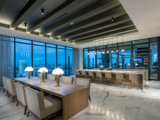 32nd Floor Resident Full-Service Catering Kitchen and Smart TV Lounge