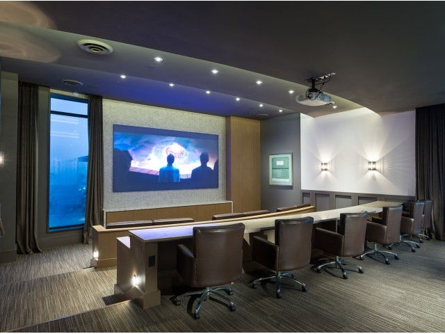 Media Room with HD Projector and Cinema-Style Seating