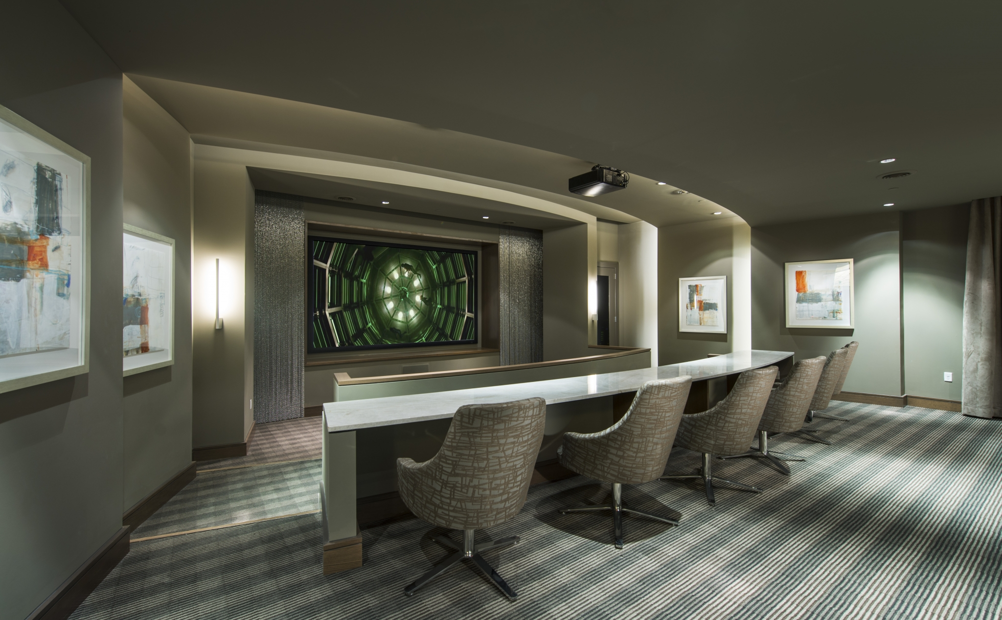Private theater with surround-sound at Hanover Southampton