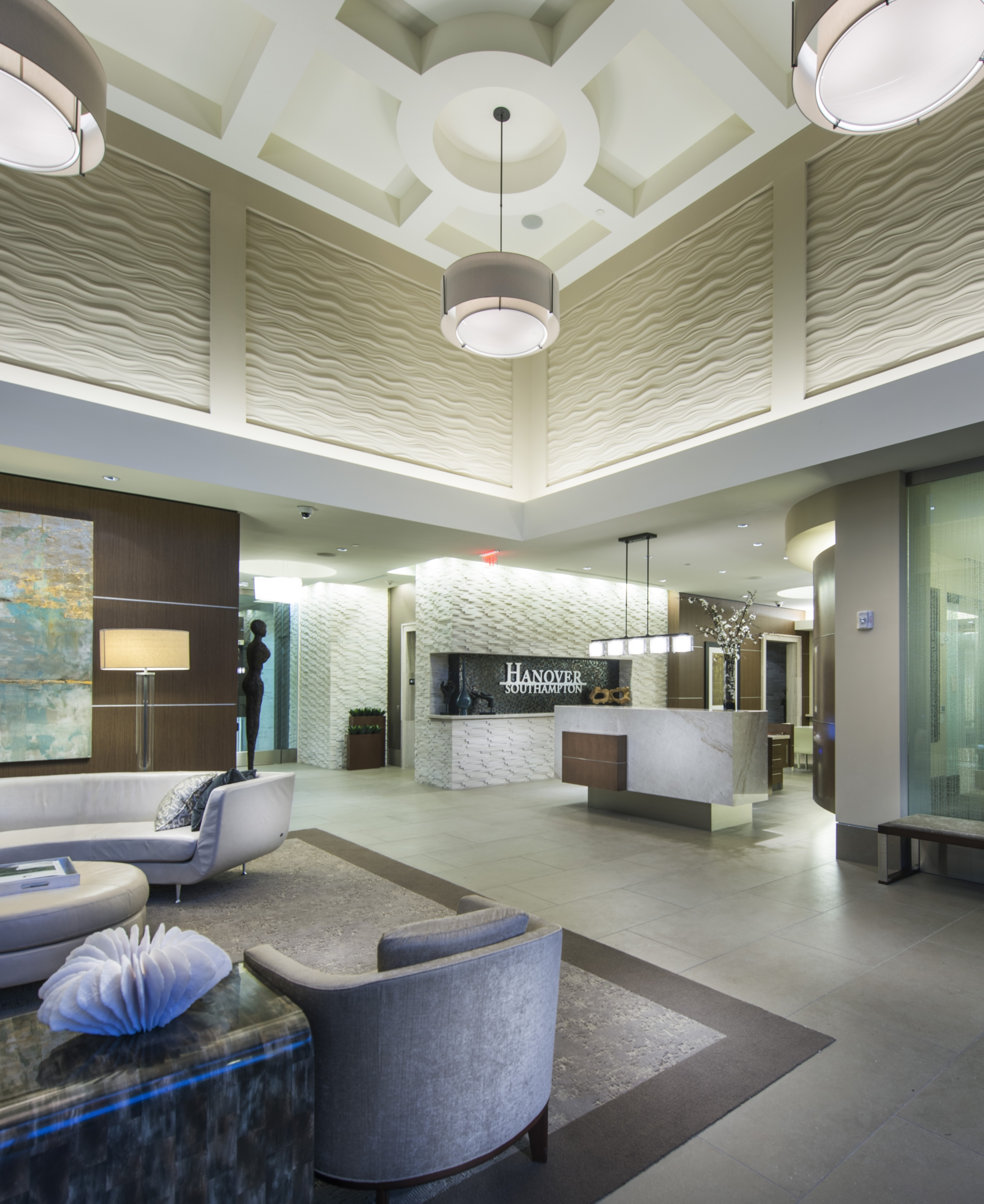 Lobby and seating area at Hanover Southampton