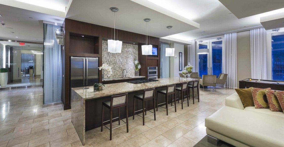 Image of Gourmet catering kitchen and dining room for Hanover Rice Village