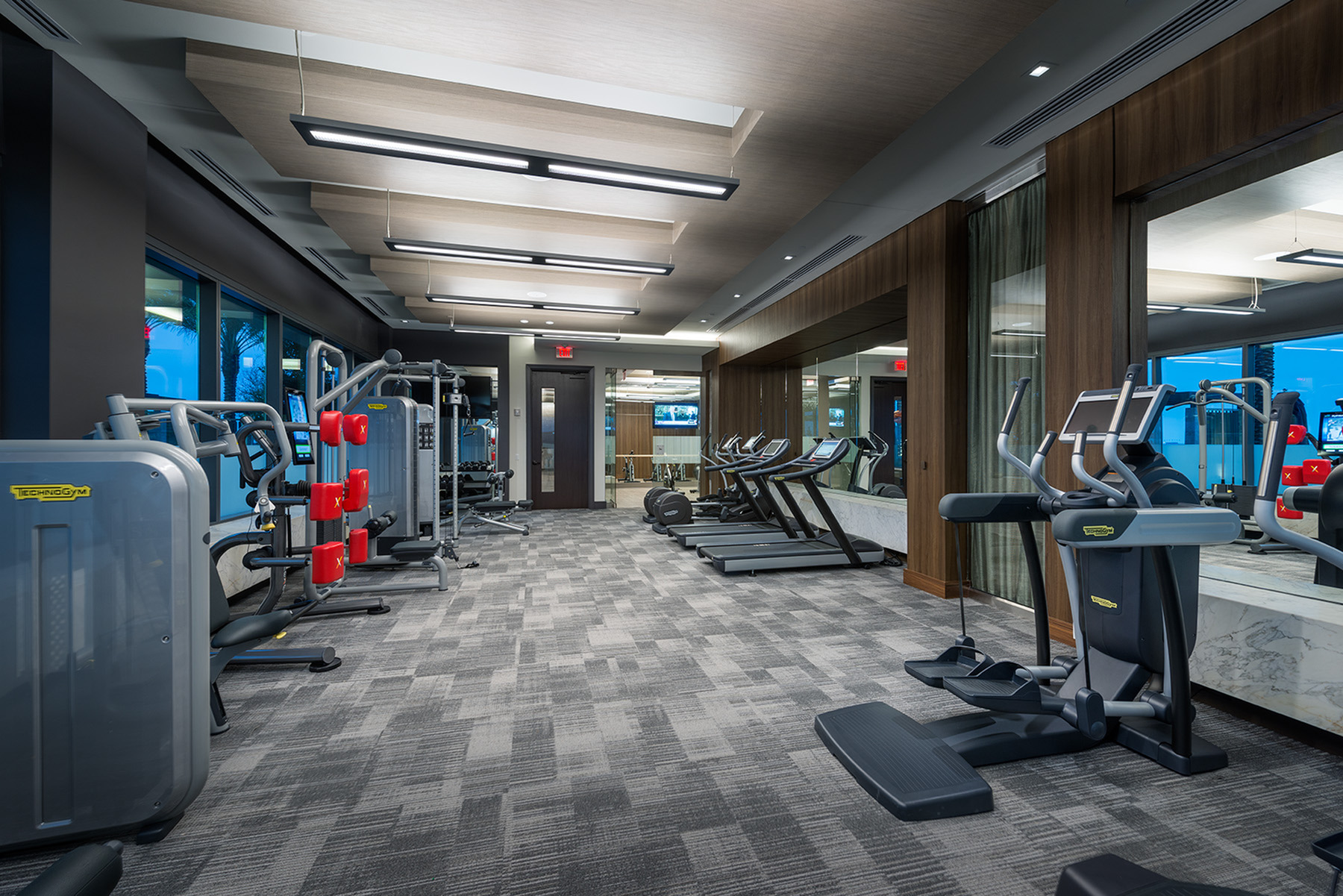 Group fitness facility at Hanover Montrose