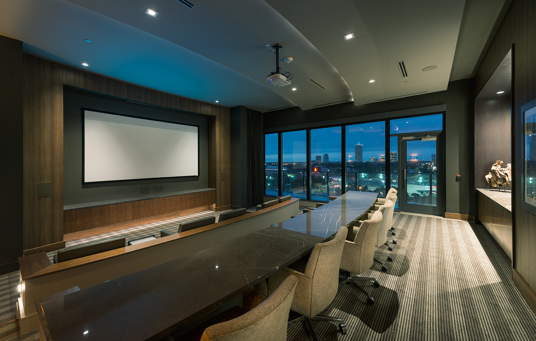 Private Media Room with Projector at Hanover Montrose