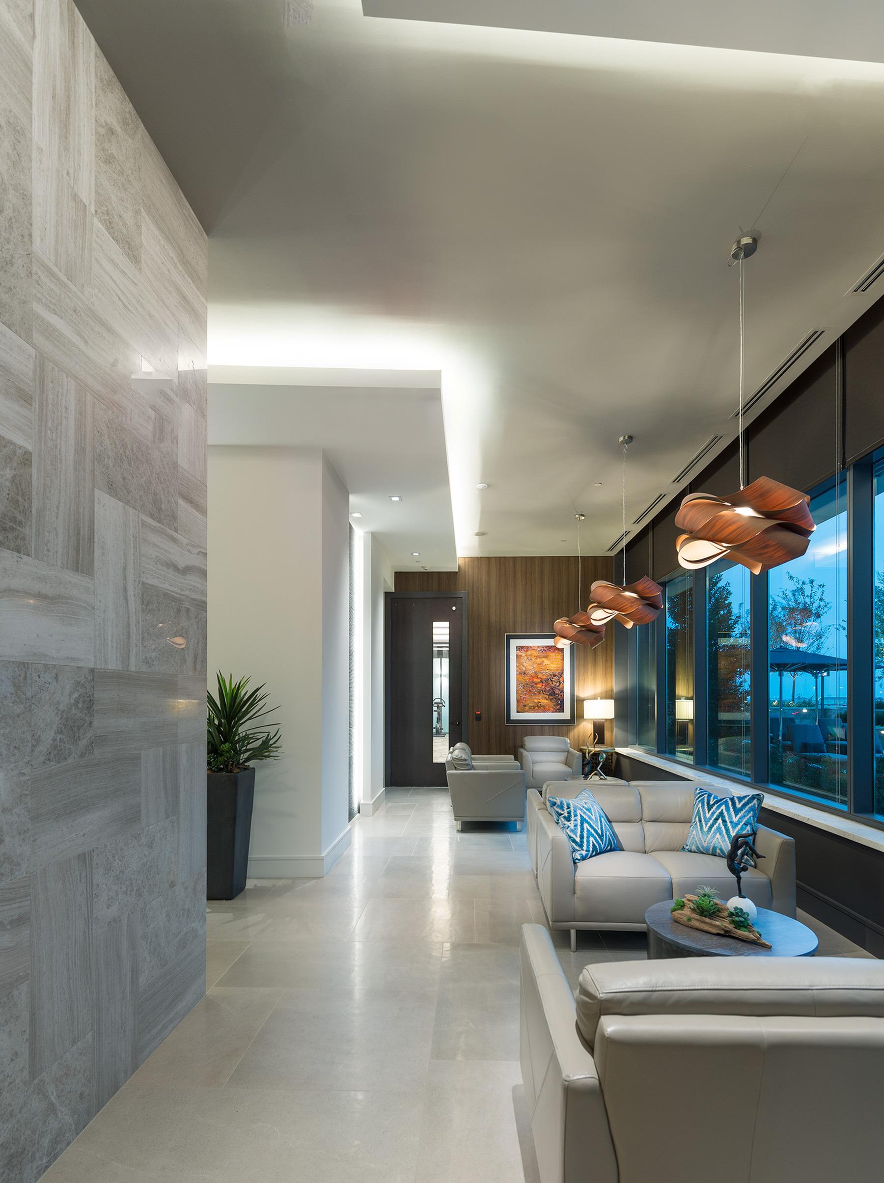Pool-side aqua lounge at Hanover Montrose
