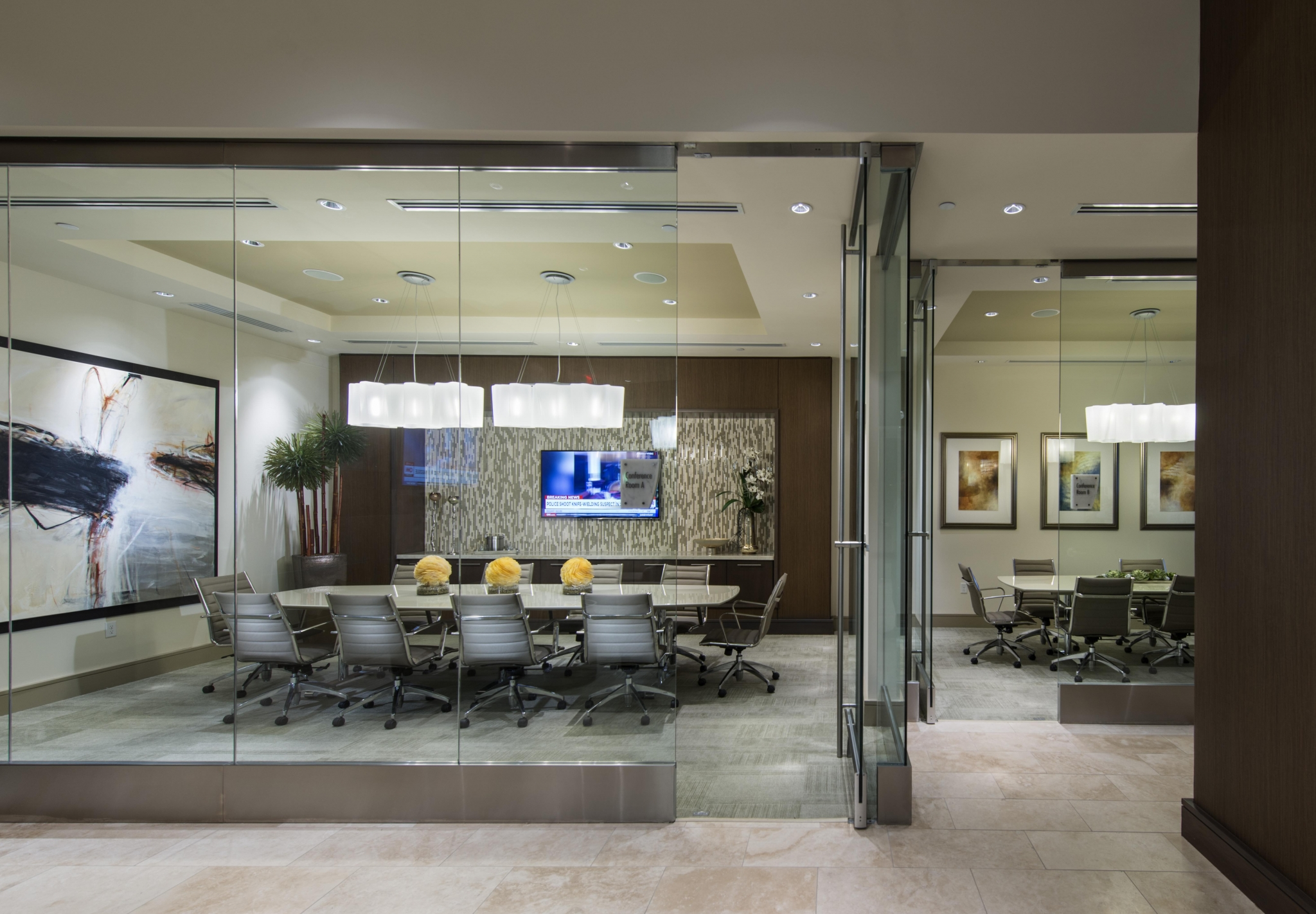 Executive conference rooms with HDTVs at Hanover Post Oak