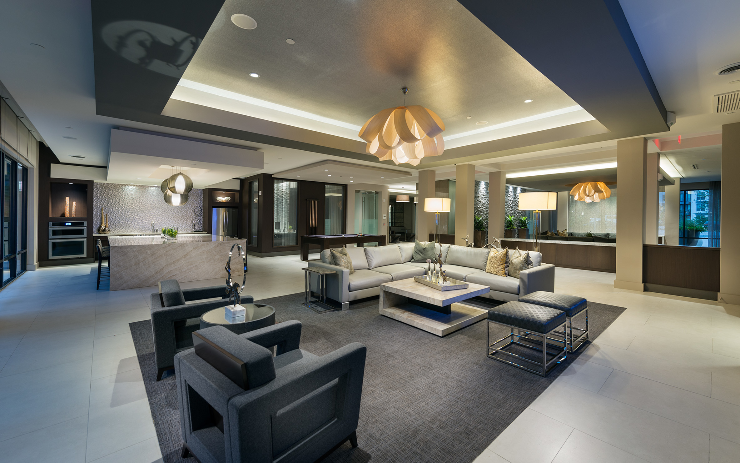 DIfferent shot of interior Resident Lounge at Hanover Midtown Park