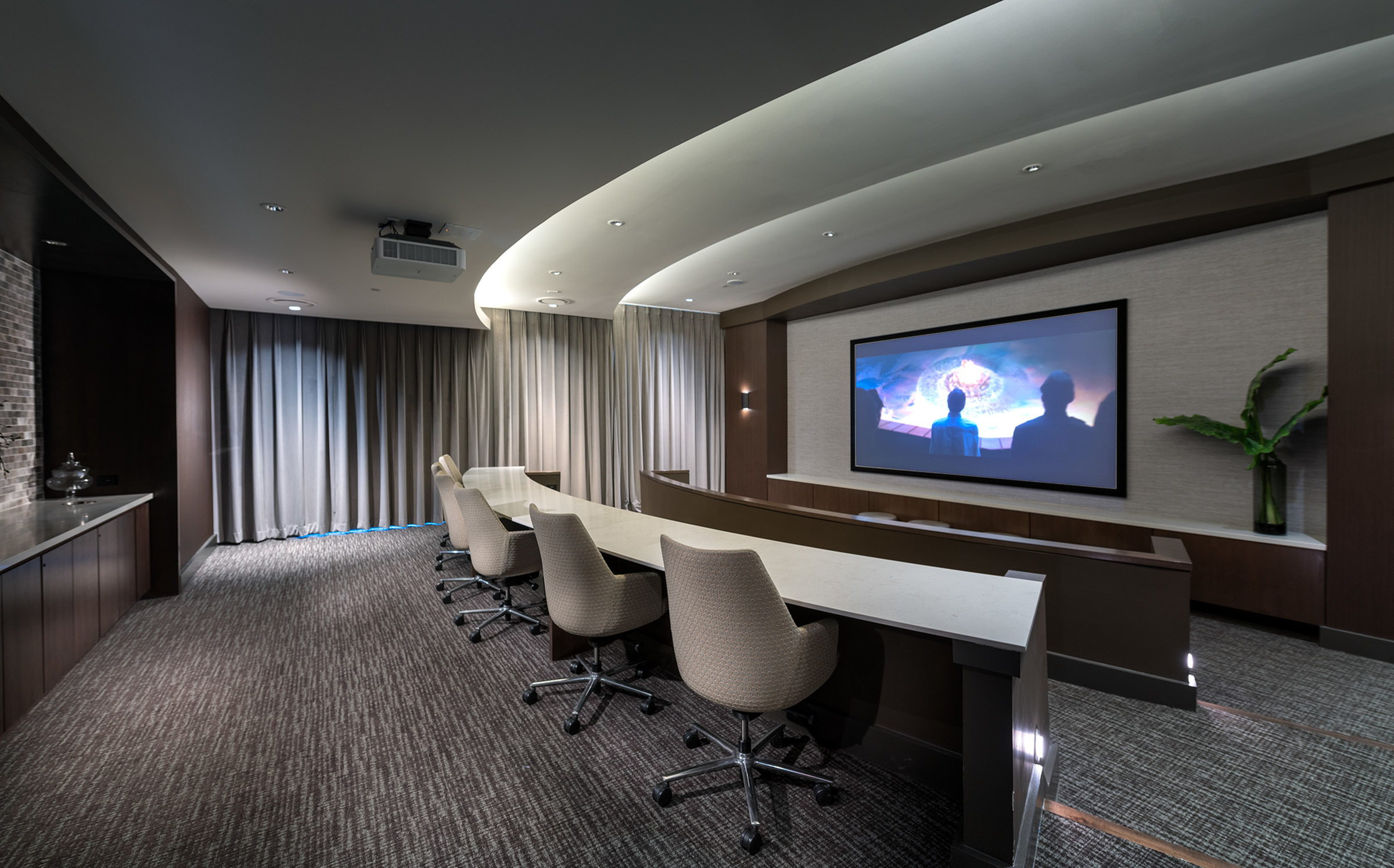 Hanover Dr. Phillips, Private media and screening room featuring surround-sound and stadium seating