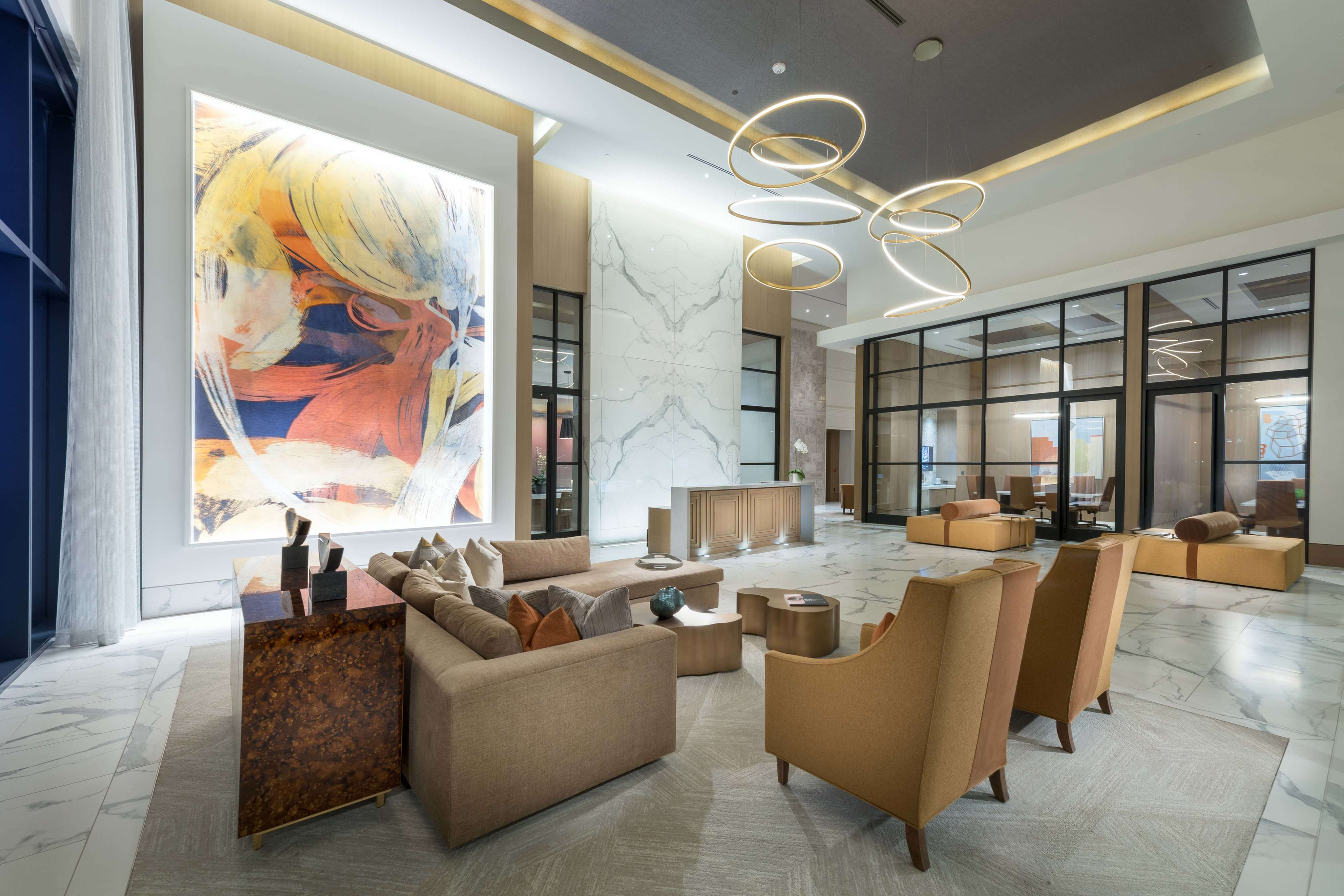 Lobby photo with Concierge and Valet Services available at Hanover BLVD Place