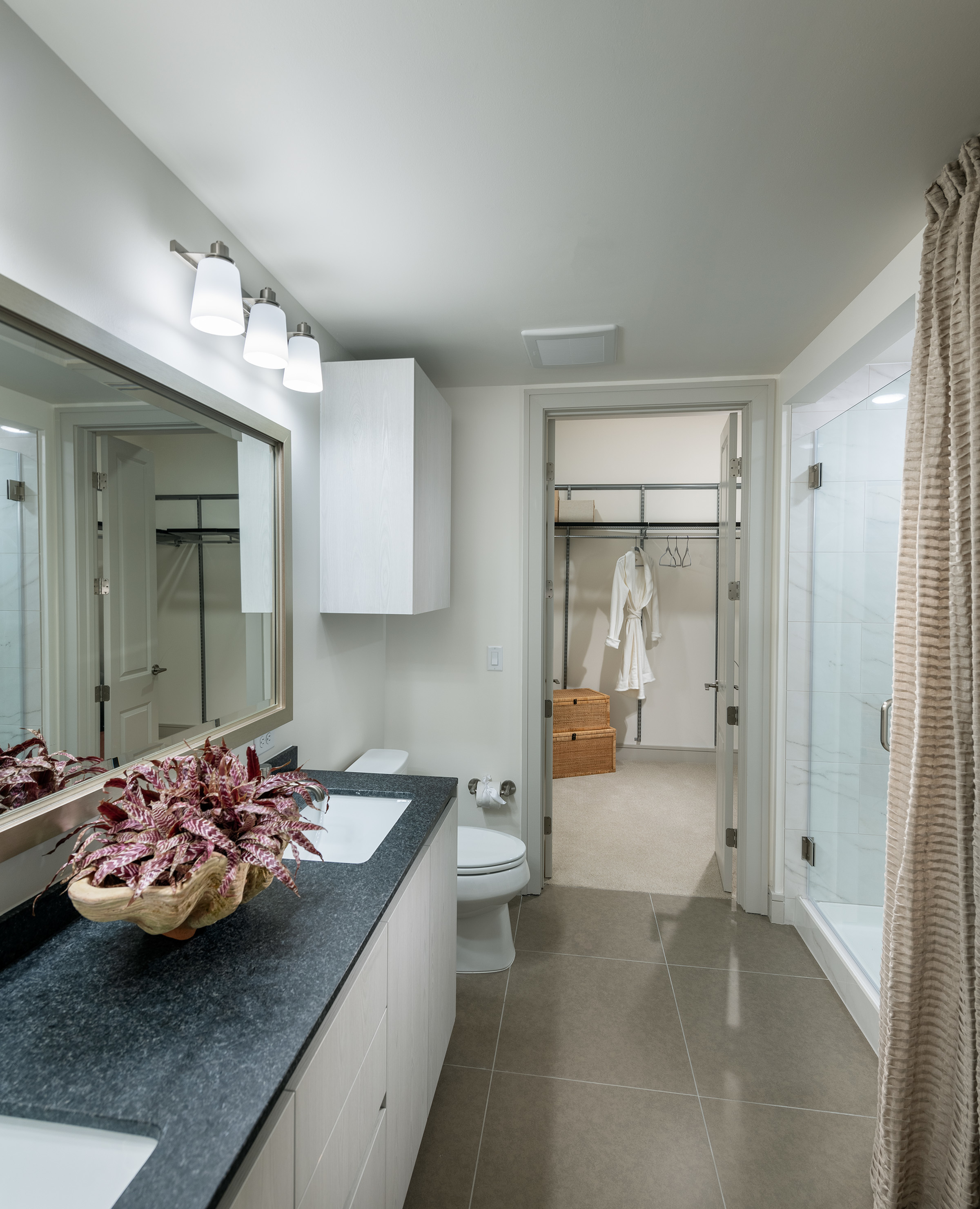 Spa-inspired bathrooms with large soaking tub