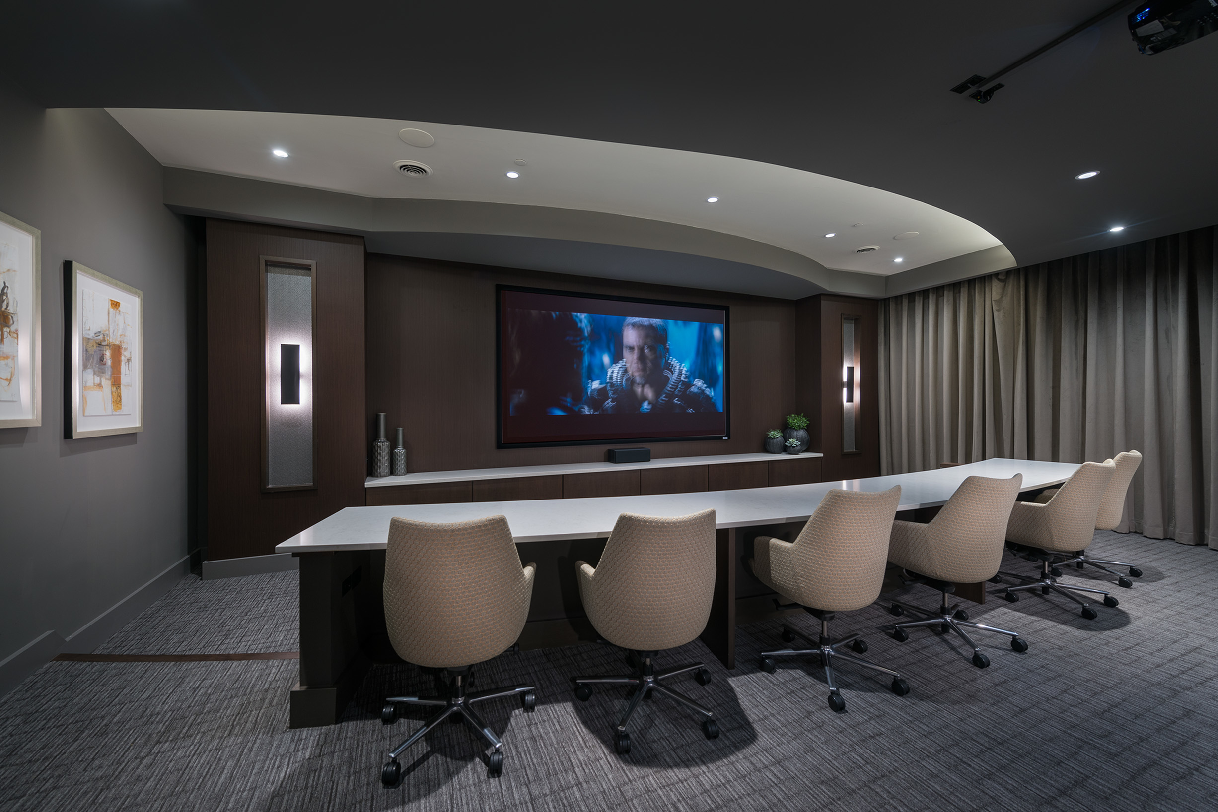 Media Room with Cinema-Style Seating